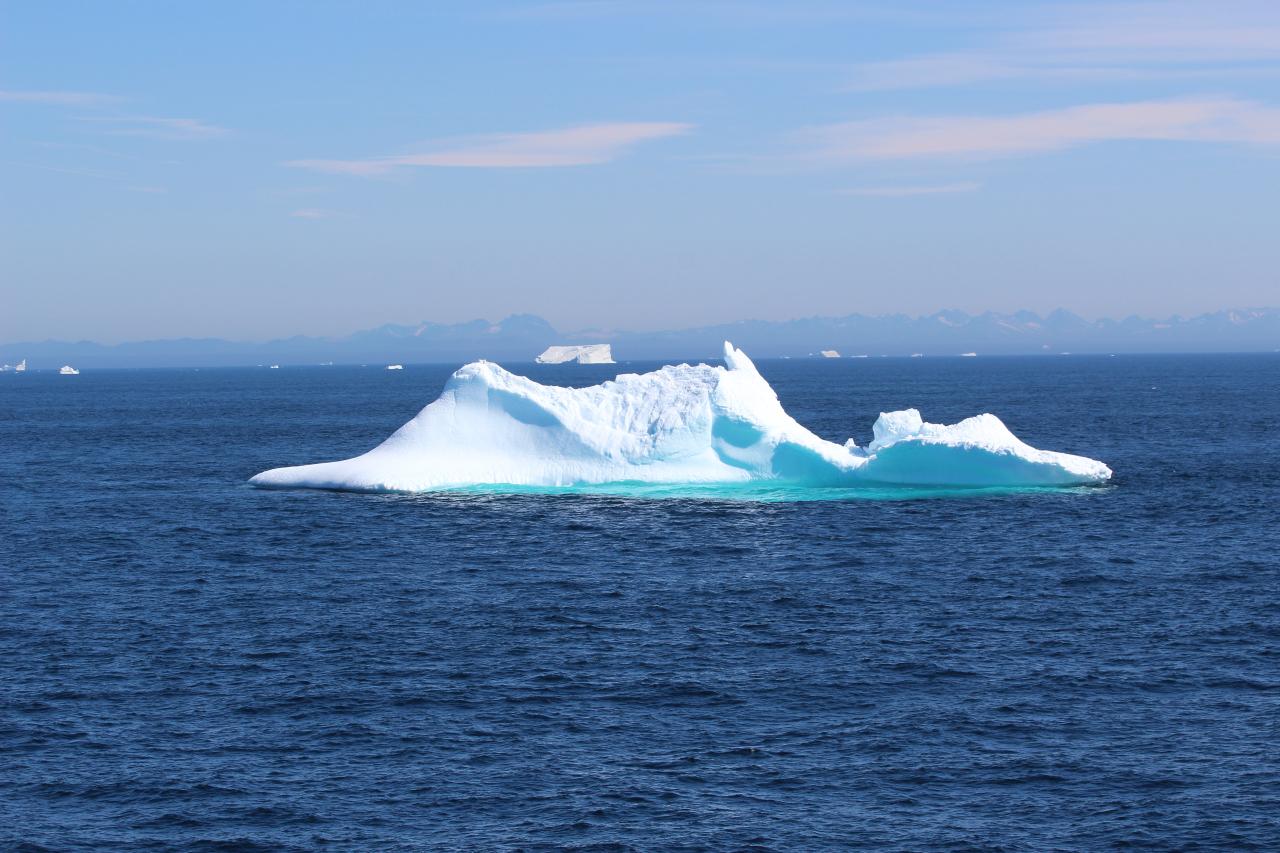 An iceberg observed off of coastal southwest Greenland.  Credit: Marcus Badger