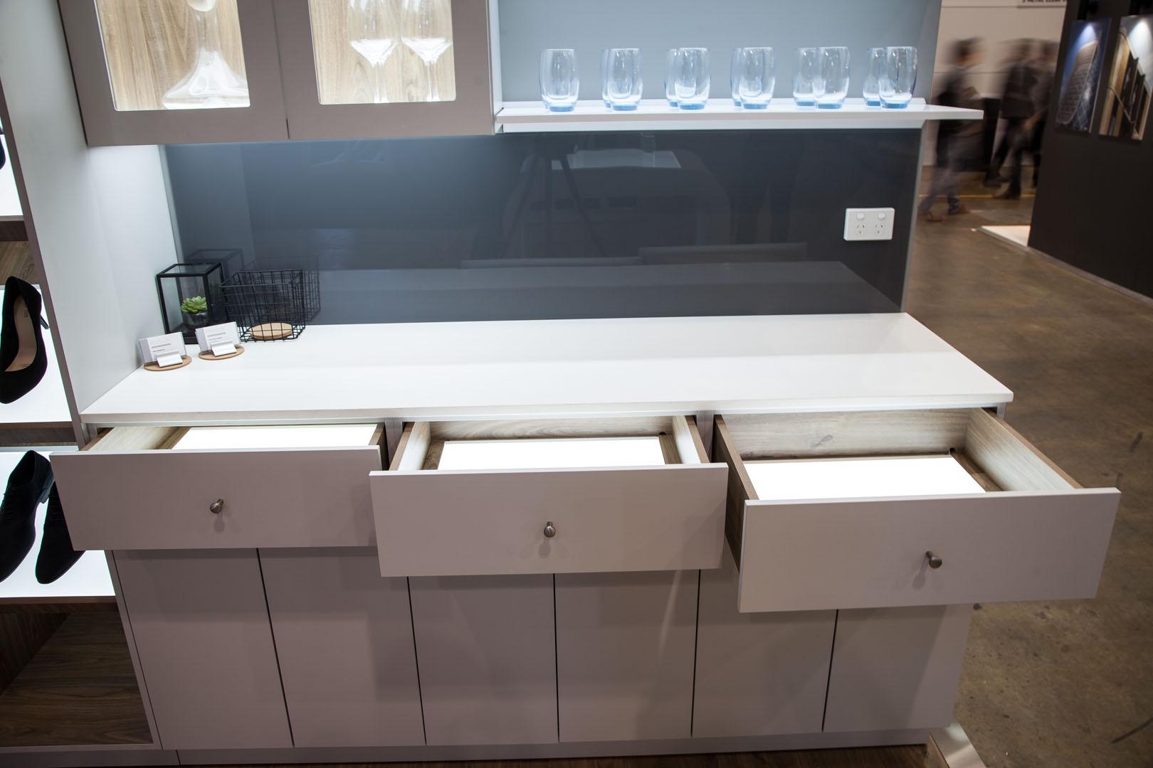 Illuminated drawers