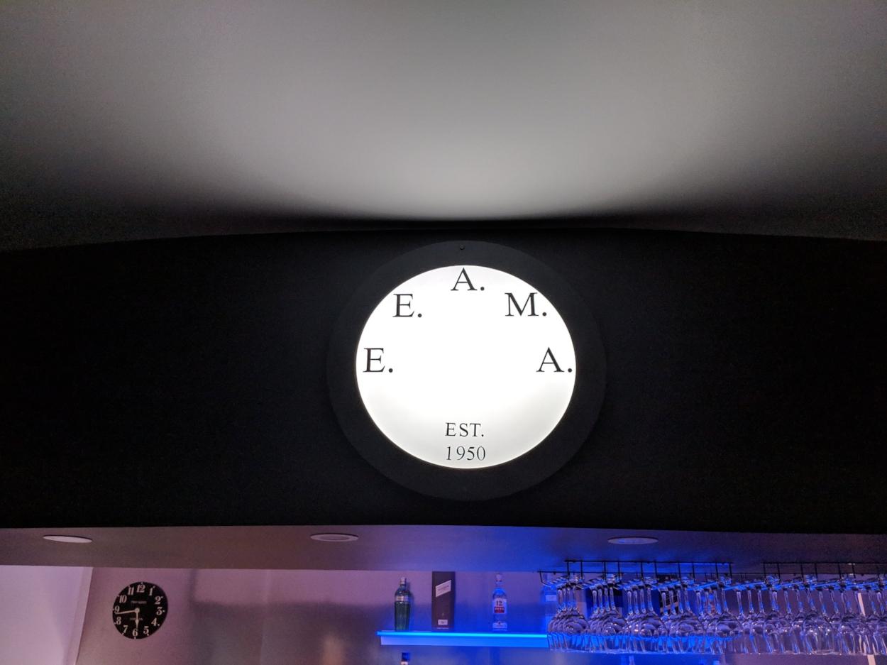 The circular panel in a custom MDF enclosure casts a brilliant light
