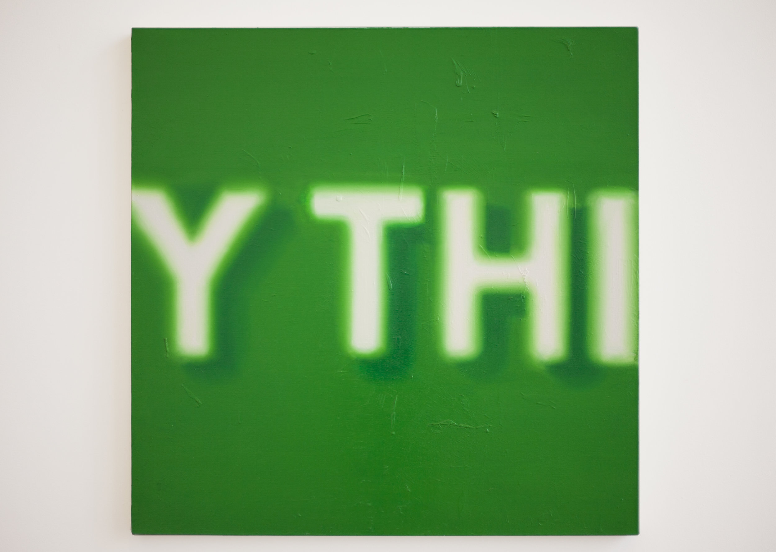 Green YTH   Oil on canvas  40 x 40 inches  2013