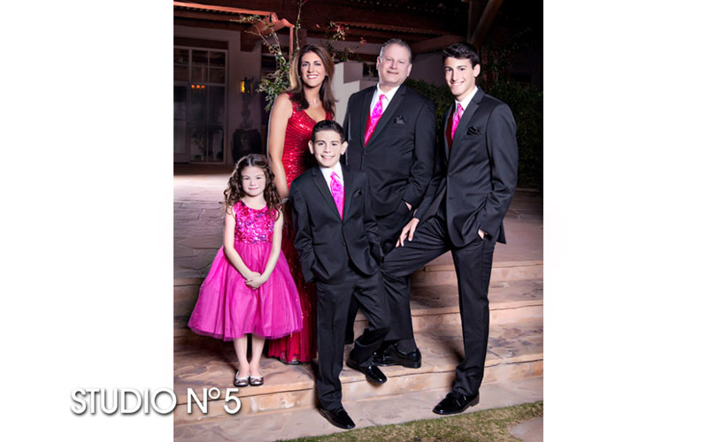 Family portraits at The Four Seasons Resort in Scottsdale.