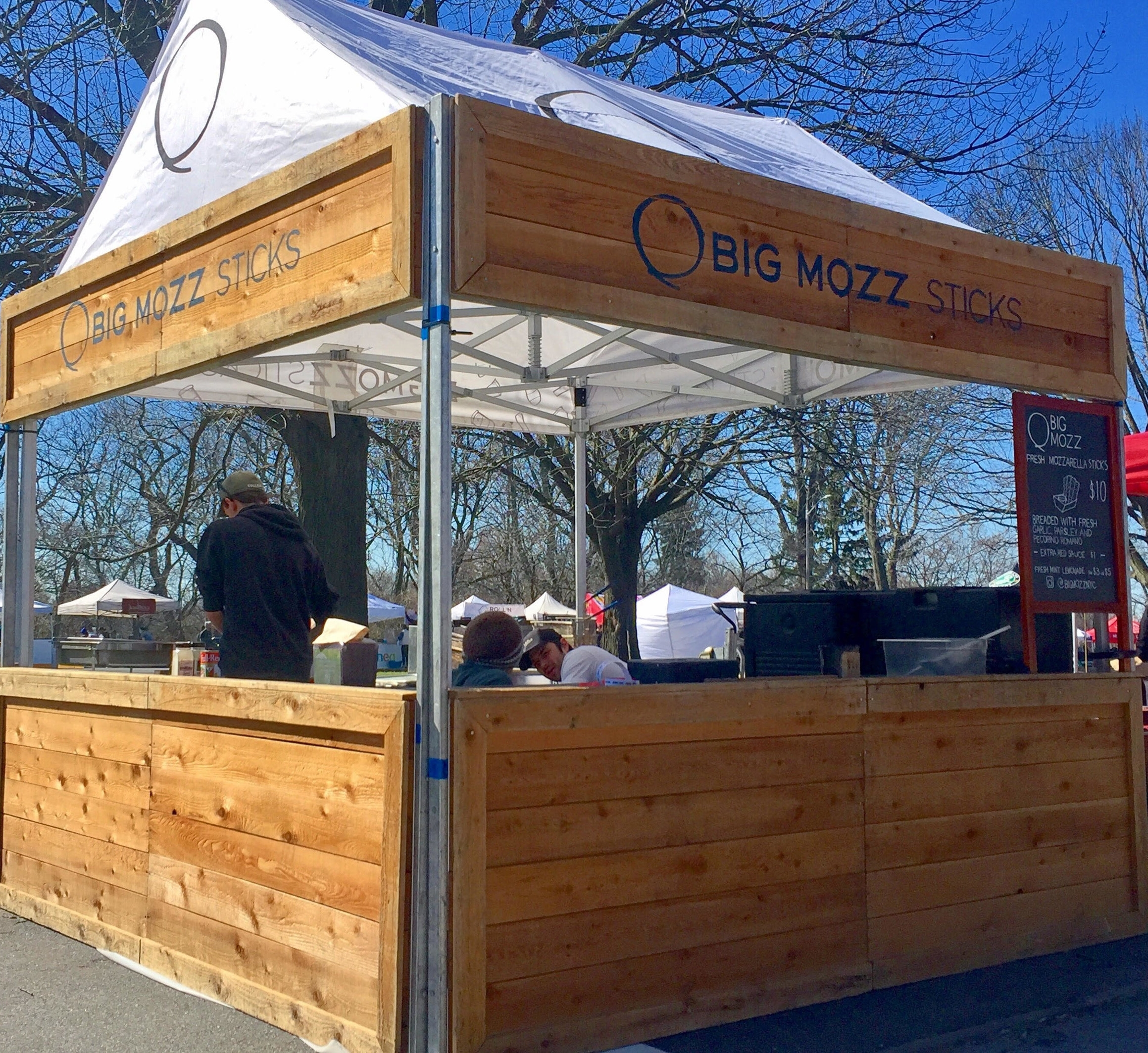 The classic Smorgasburg stand - our hand built, reclaimed wood storefront. It adds permanence and a very Brooklyn touch to events.