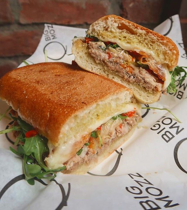 🌟Great Jones Sandwich🌟 One of our newest menu items!!! Stay tuned, our menu is constantly changing 🤤🤤🤤 #BigMozz #ChelseaMarket #GreatJones
