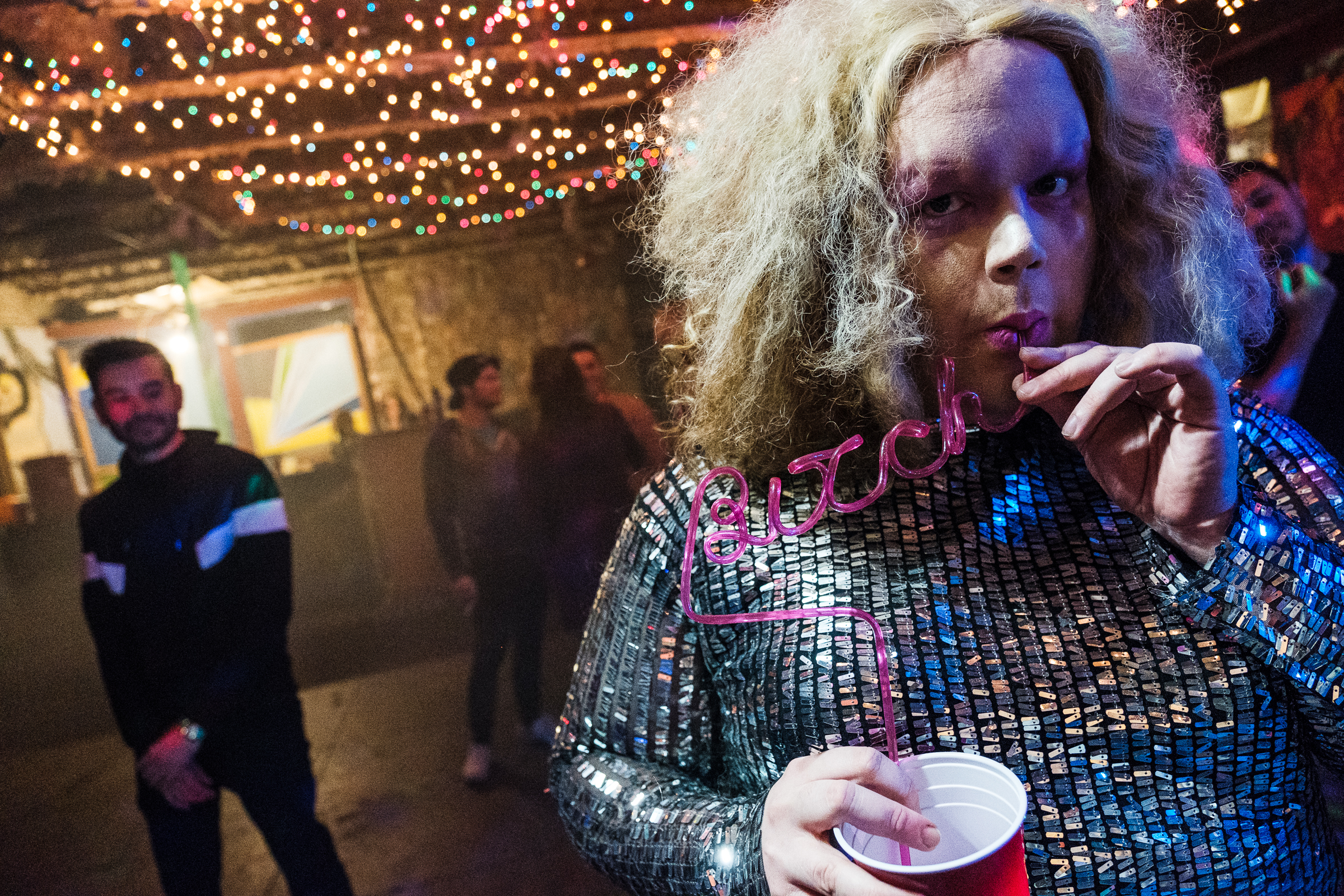 """Austin drag queen Honey St. Claire behind the scenes at the """"Human""""shoot. // January 2018"""