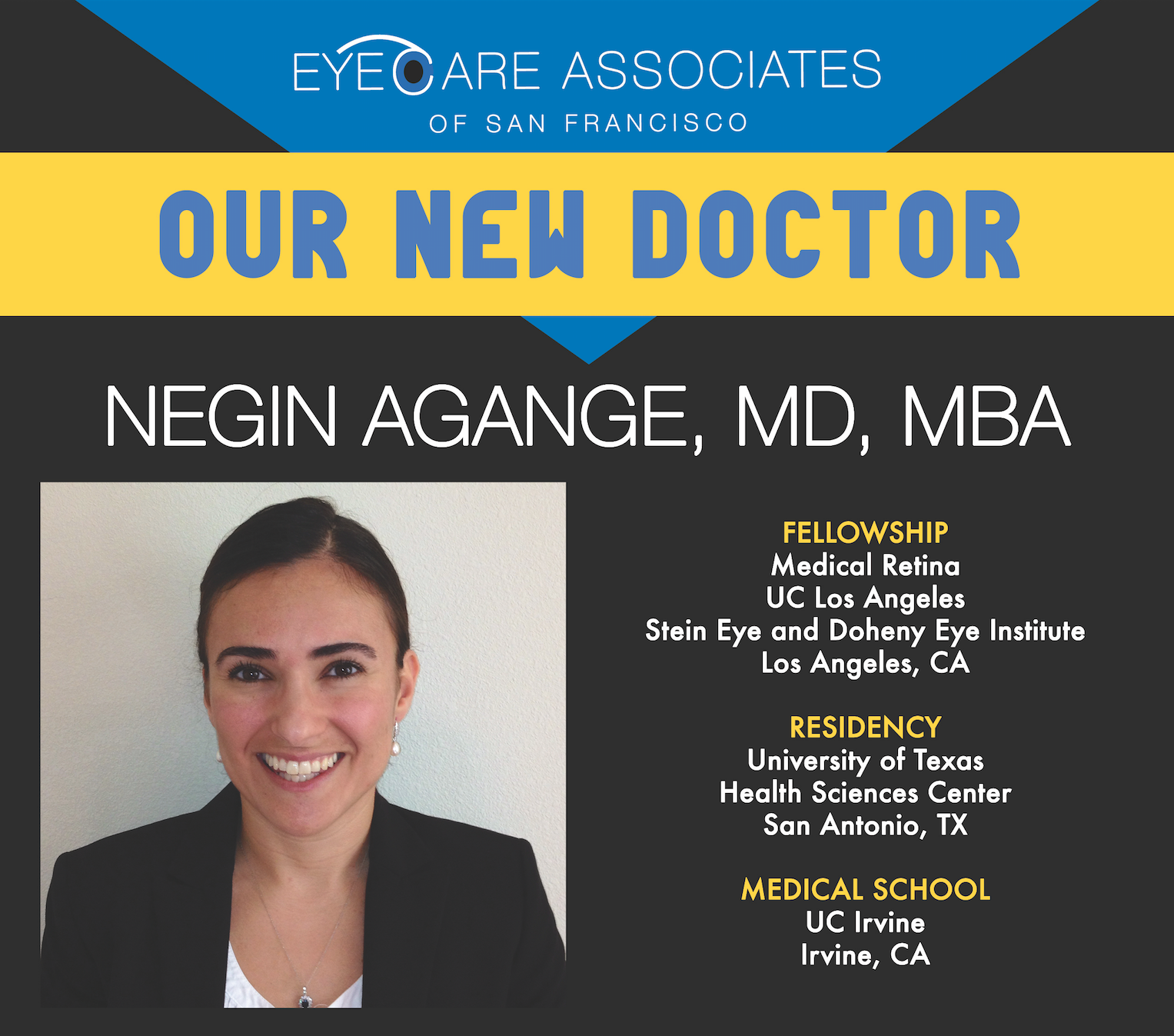 San Francisco Ophthalmologist, Negin Agange