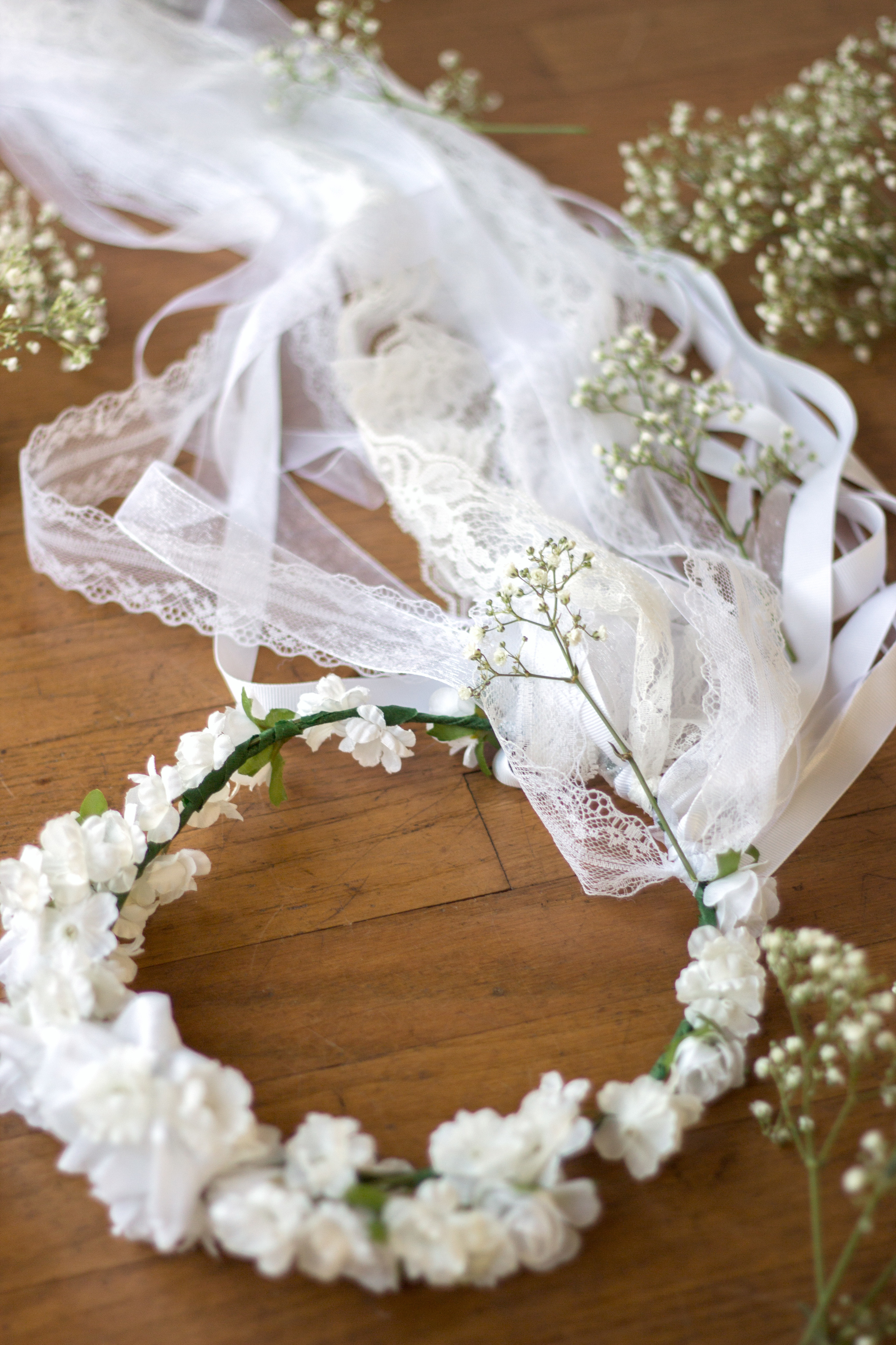 The Bridesmaid Season: DIY Flower Crown Veil (www.withmichellekim.com)