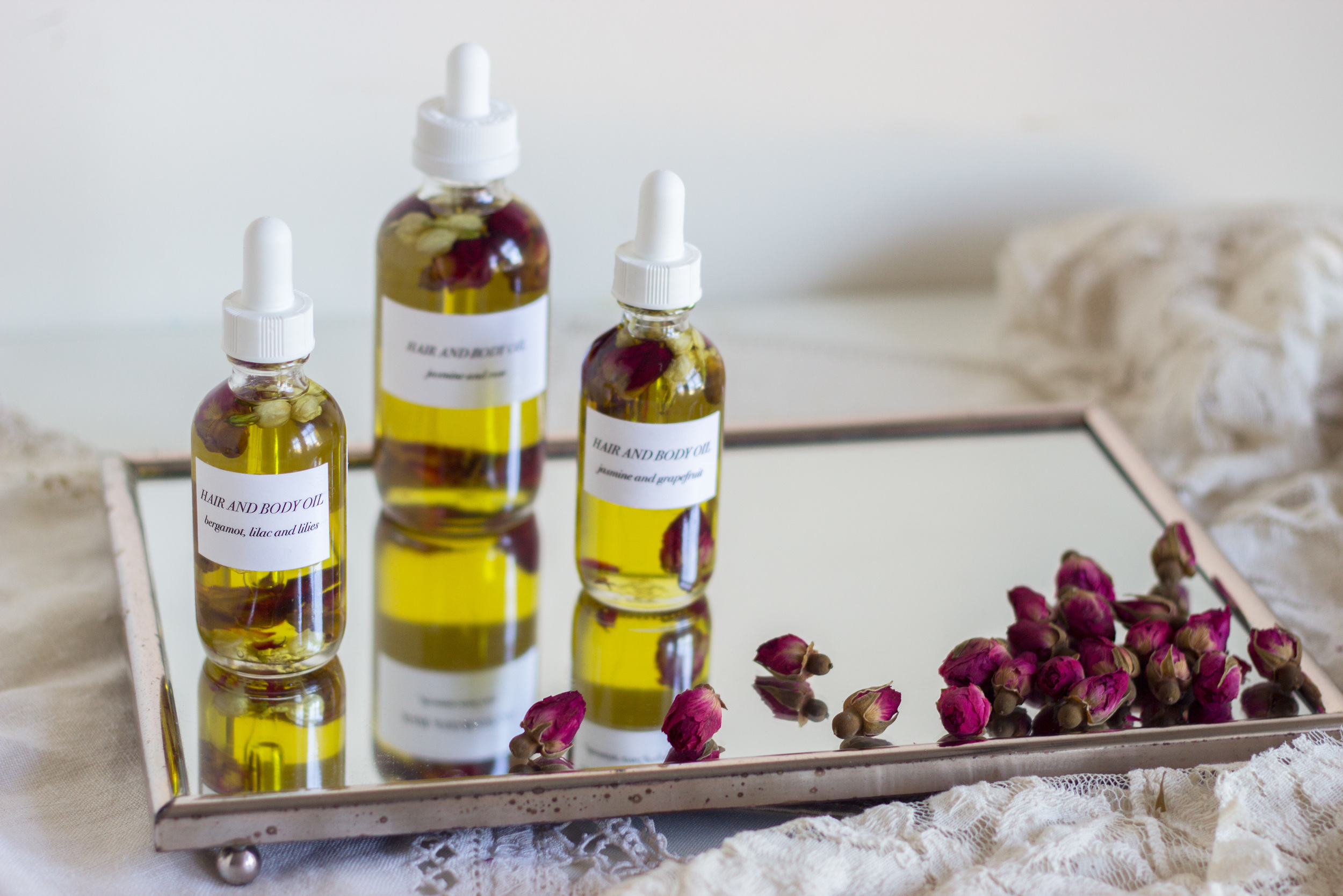 DIY: Floral Hair and Body Oil (www.withmichellekim.com)
