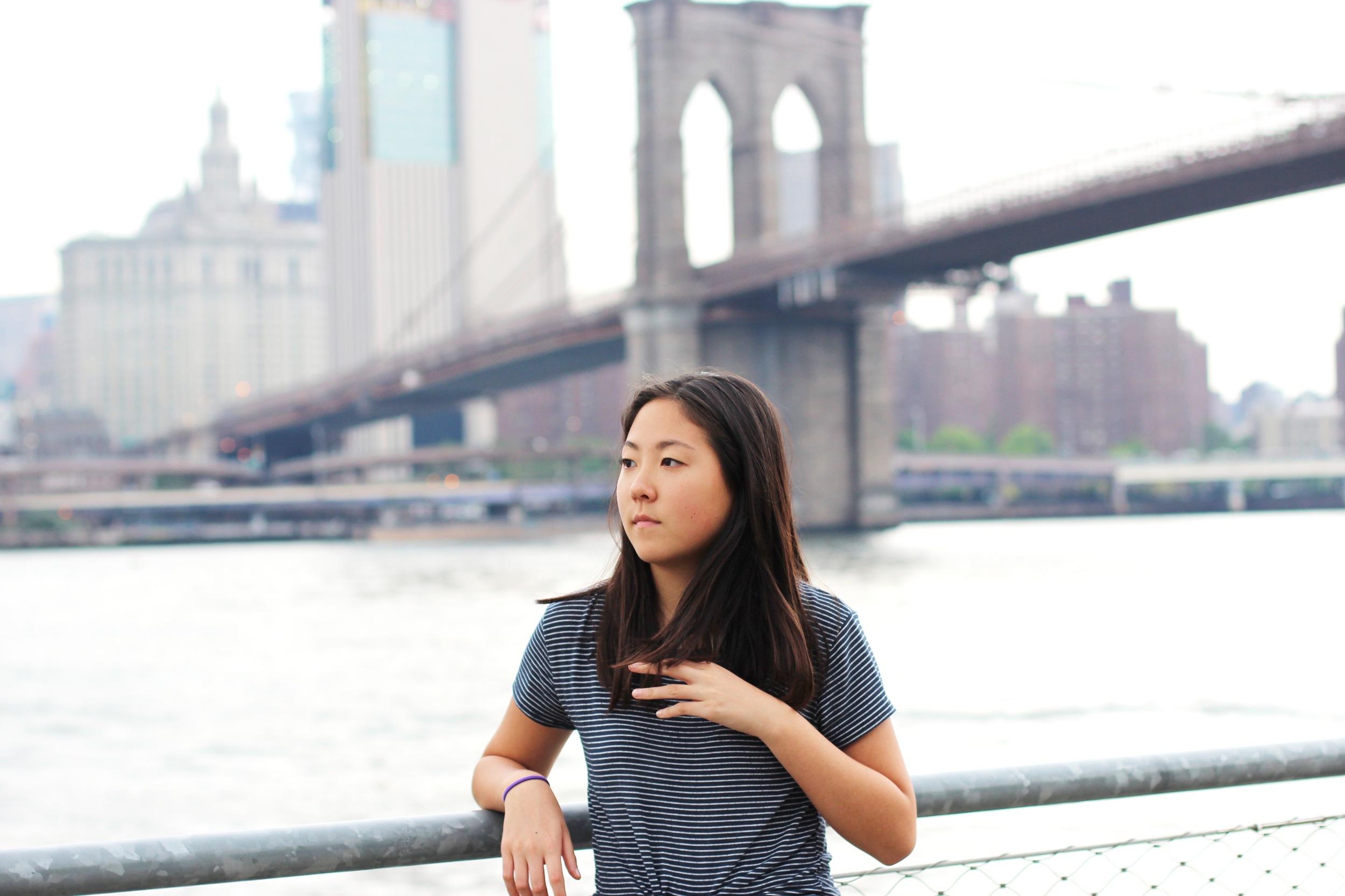 Eunice at Brooklyn Bridge