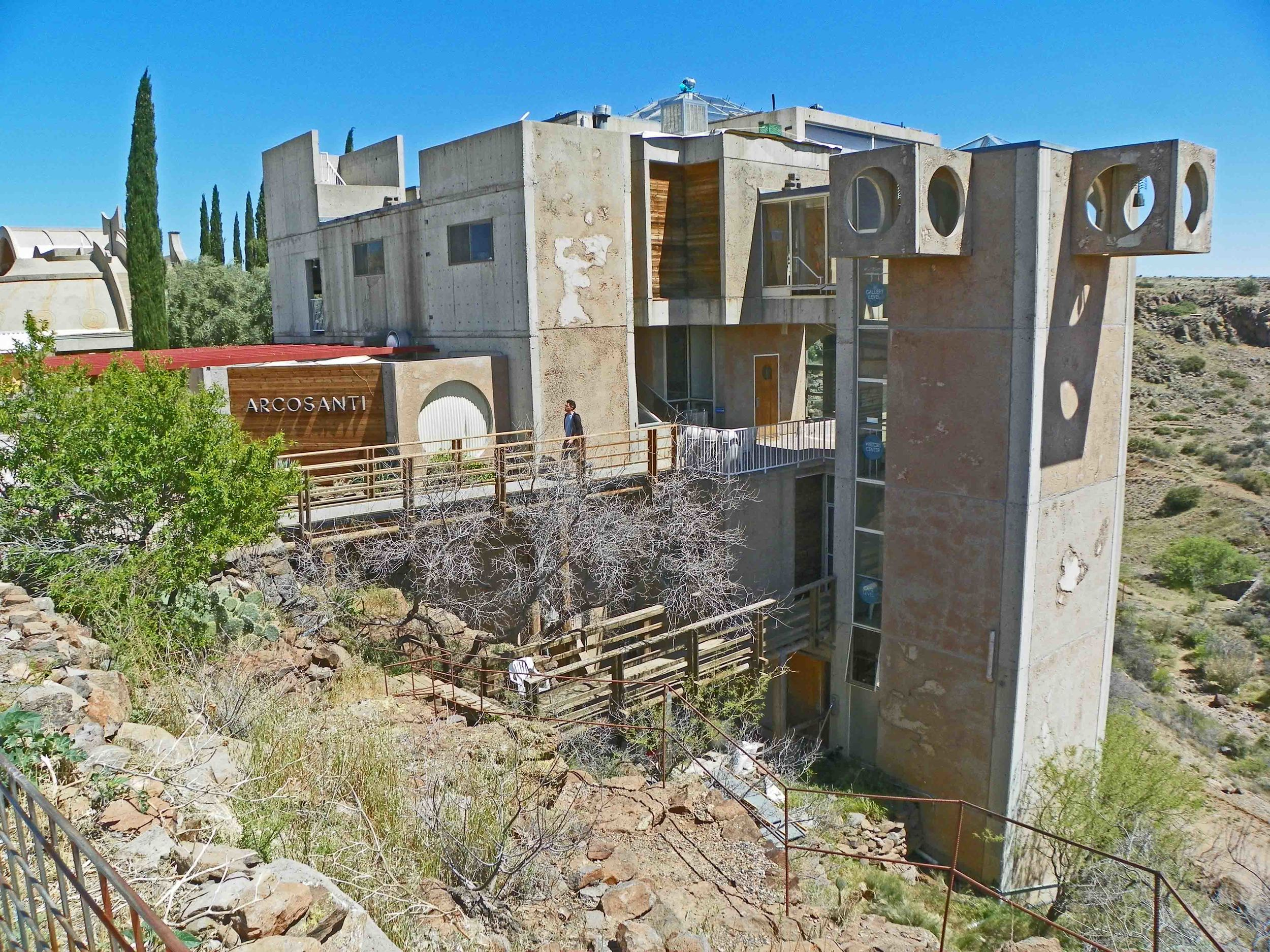 The Arcosanti visitor center sees 30-40,000 guests annually.
