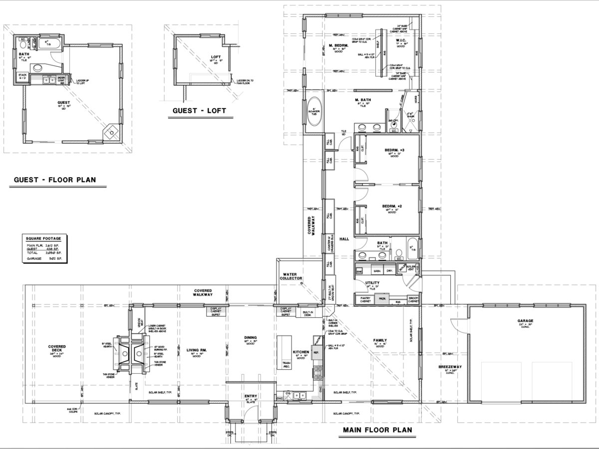 The floor plan of the 'Aldergrove Residence' drawn in a 2D program.