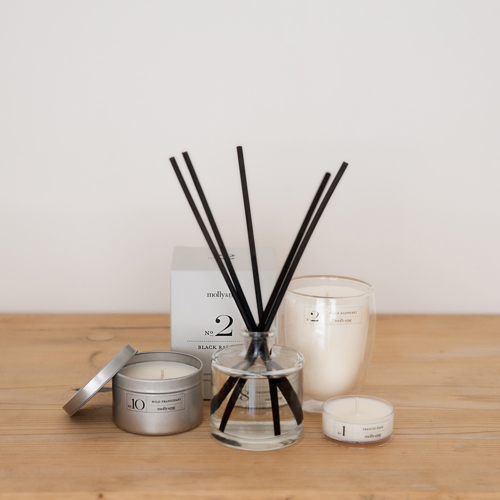 Hand poured soy candles and aroma reeds