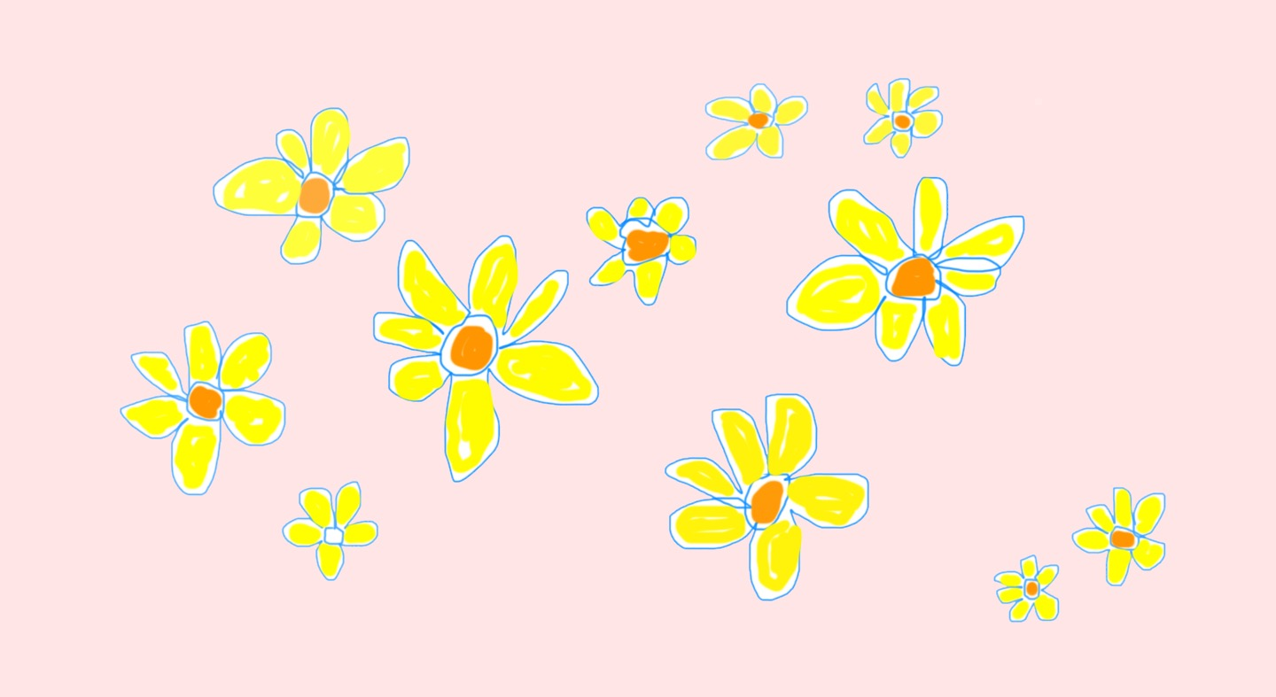 yellow flowers with pink.jpg