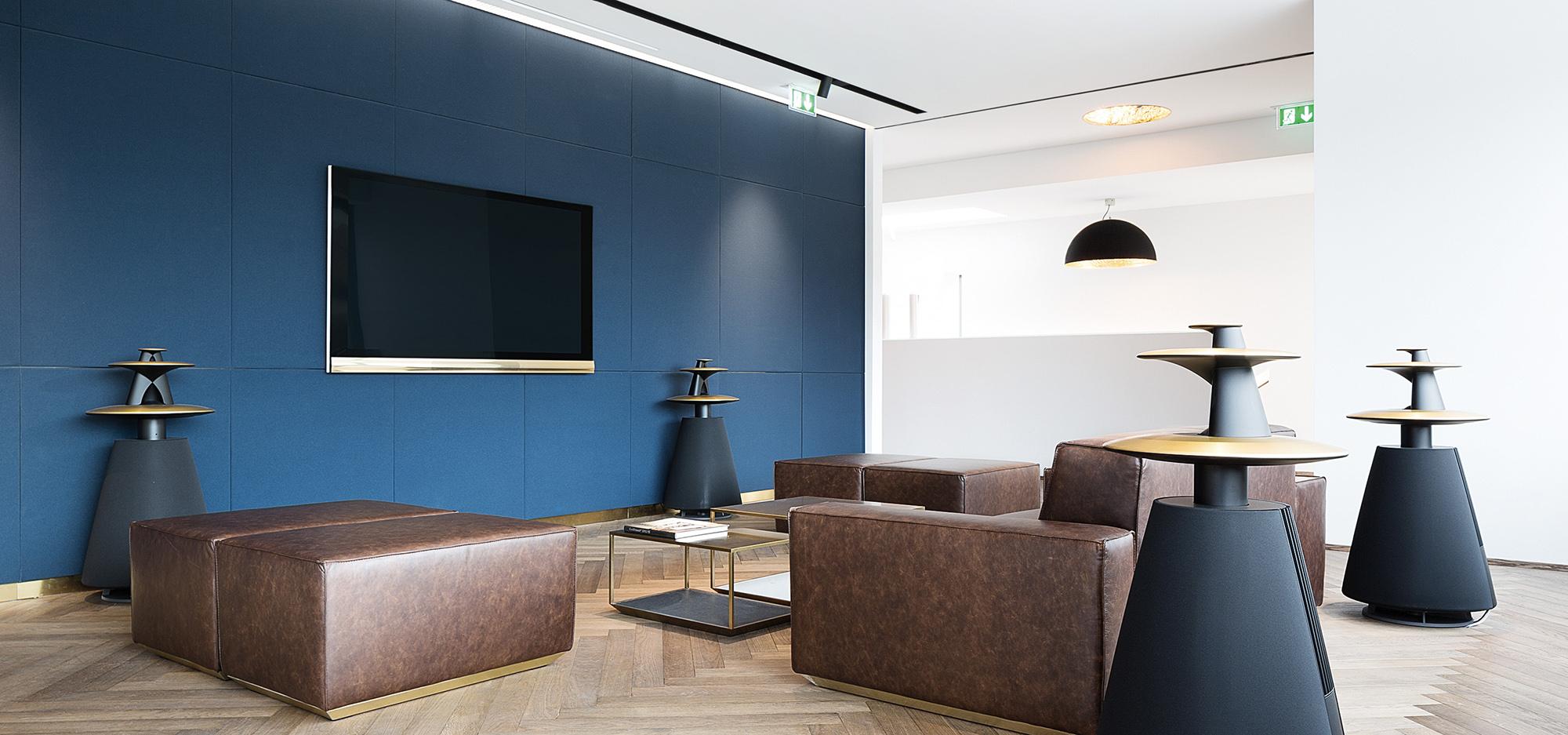 Retail design of B&O store with custom-designed furniture