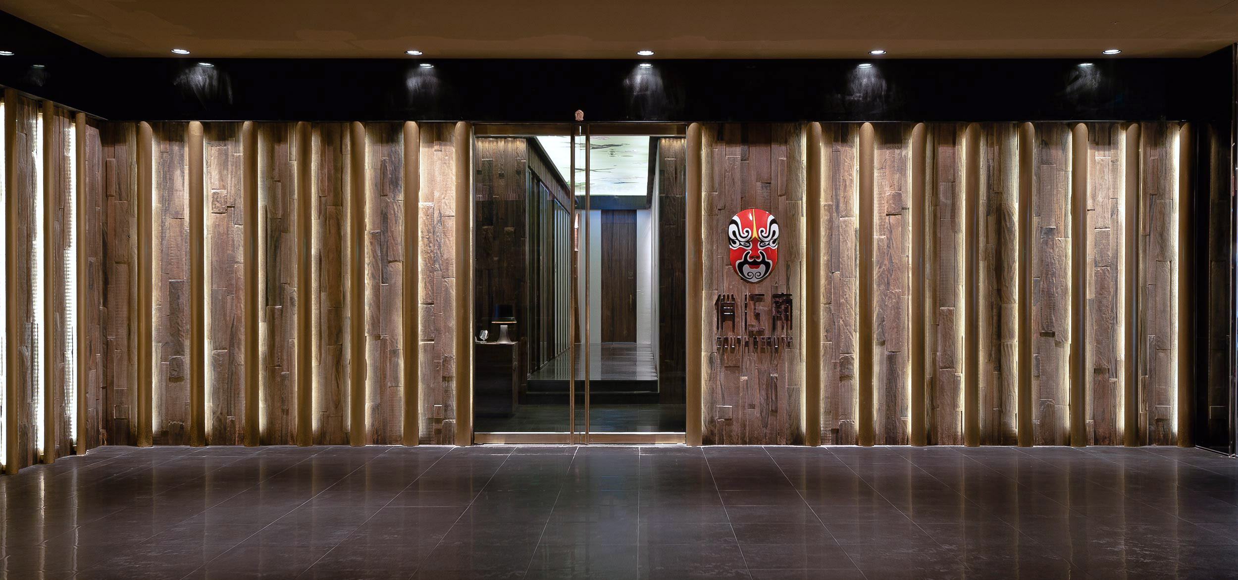 Entrance to the South Beauty luxury restaurant in Taipei