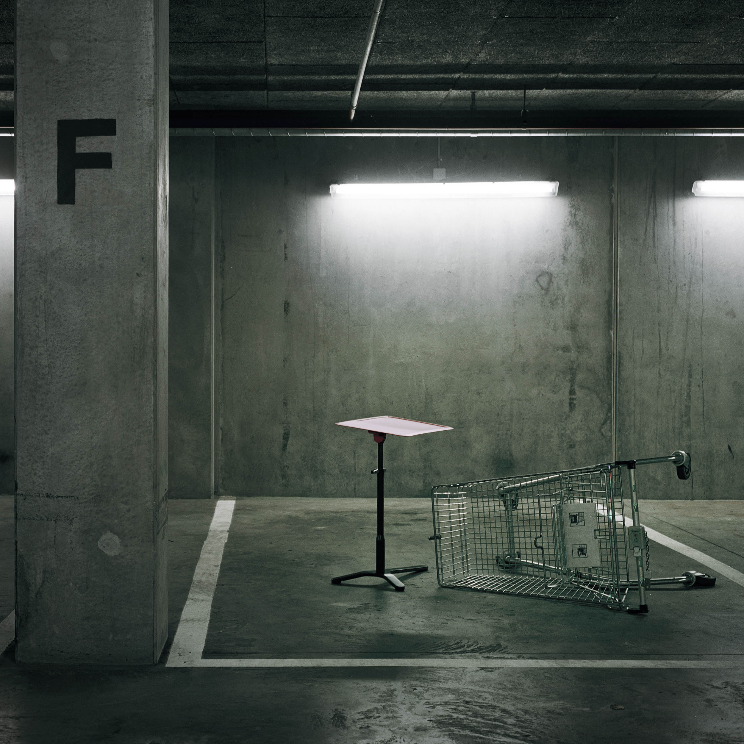 Space Enabler table designed for Hayworth displayed in a remote parking house