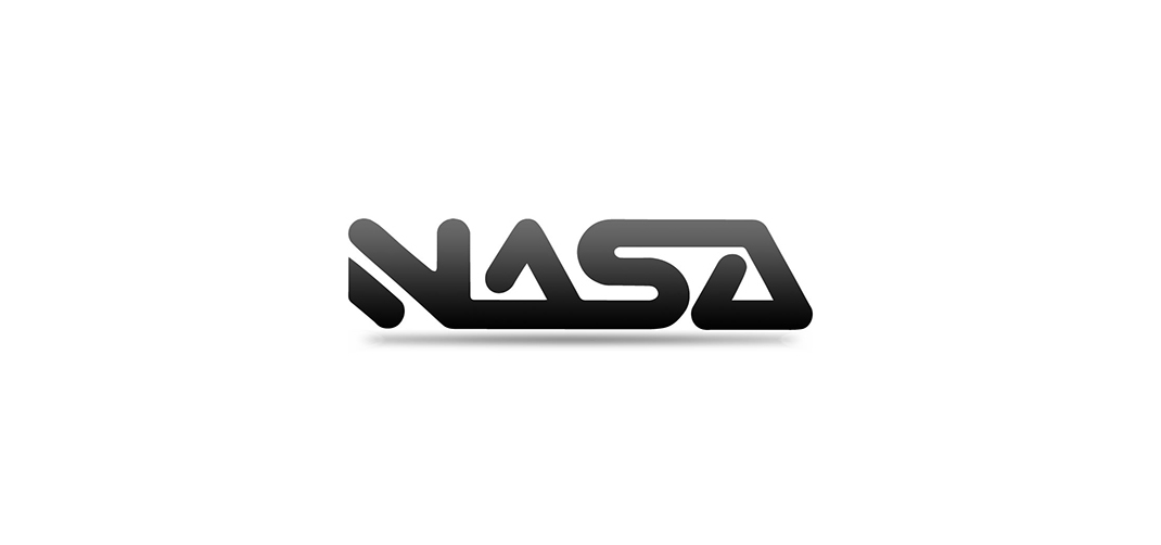 Visual identity including logo design for NASA bar and nightclub