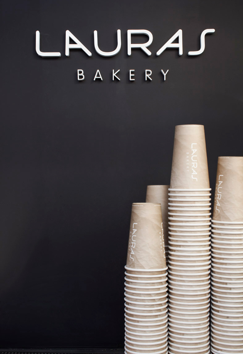 Branding and packaging design done for Lauras Bakery by Johannes Torpe Studios