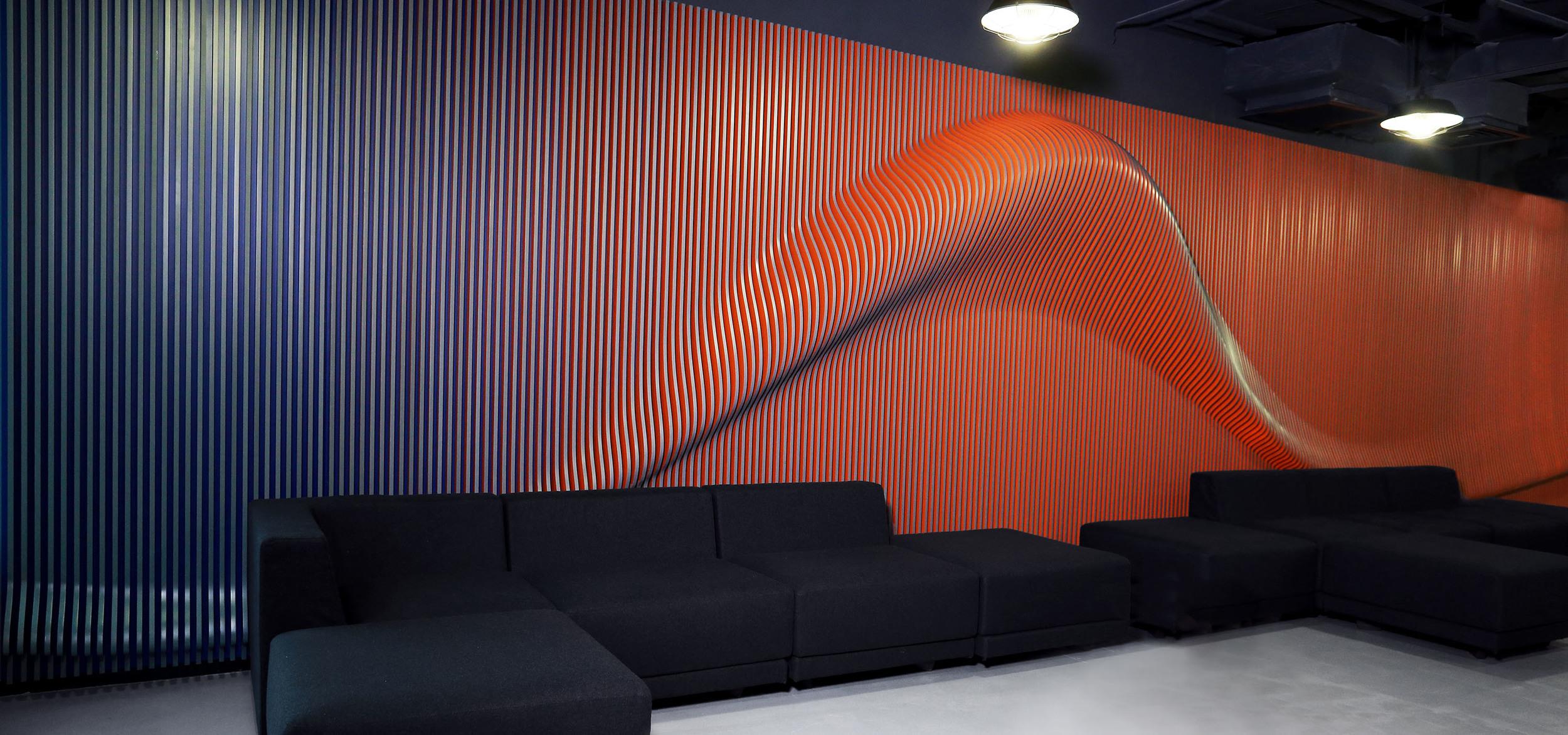 NIKE Beijing Brand Art Installation Lamella Piece