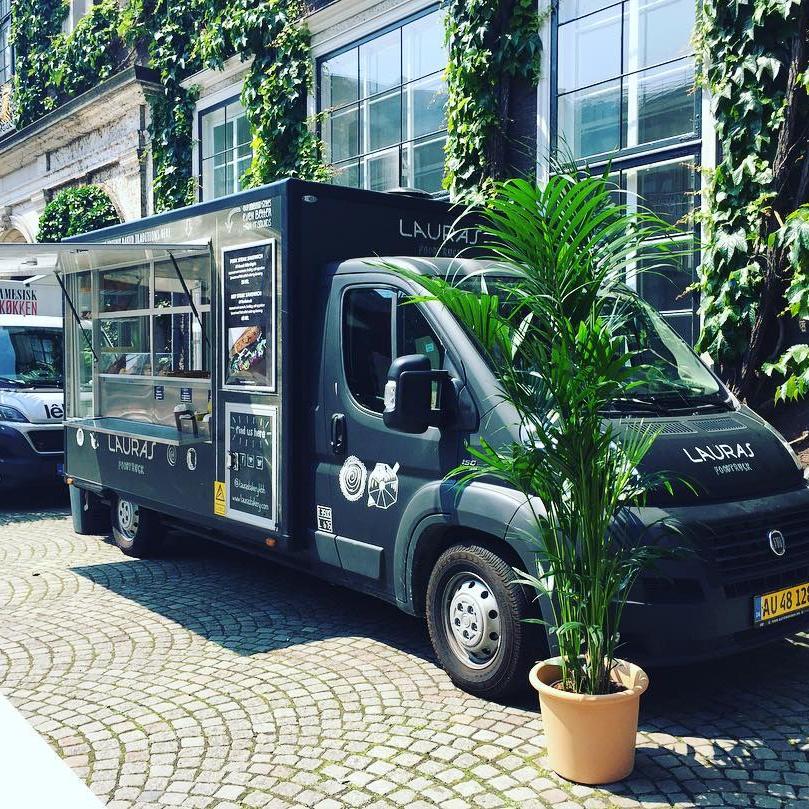 Distributing van of Lauras Bakery photographed in Copenhagen