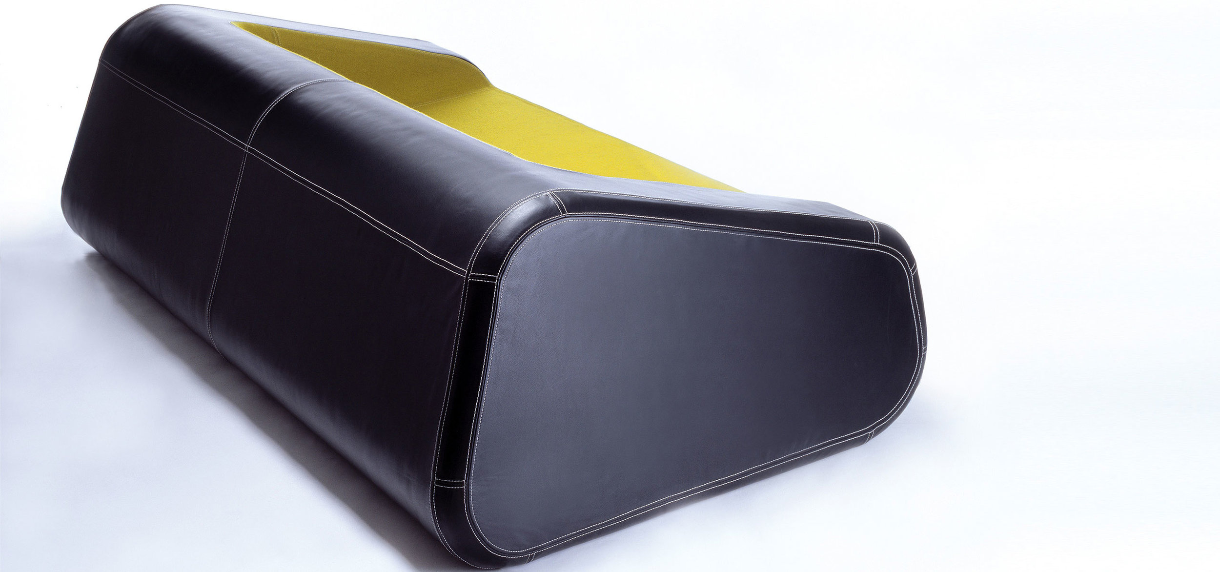 Foam, fabric and leather were used as the primary material for the furniture design of the mormor couch.