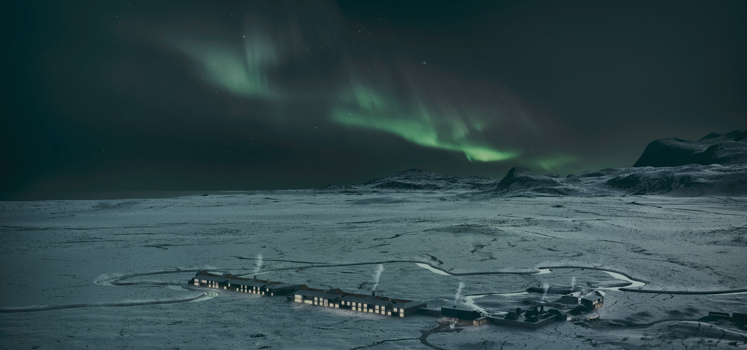 Architecture Concept - Red Mountain Lagoon with Northern Lights.jpg