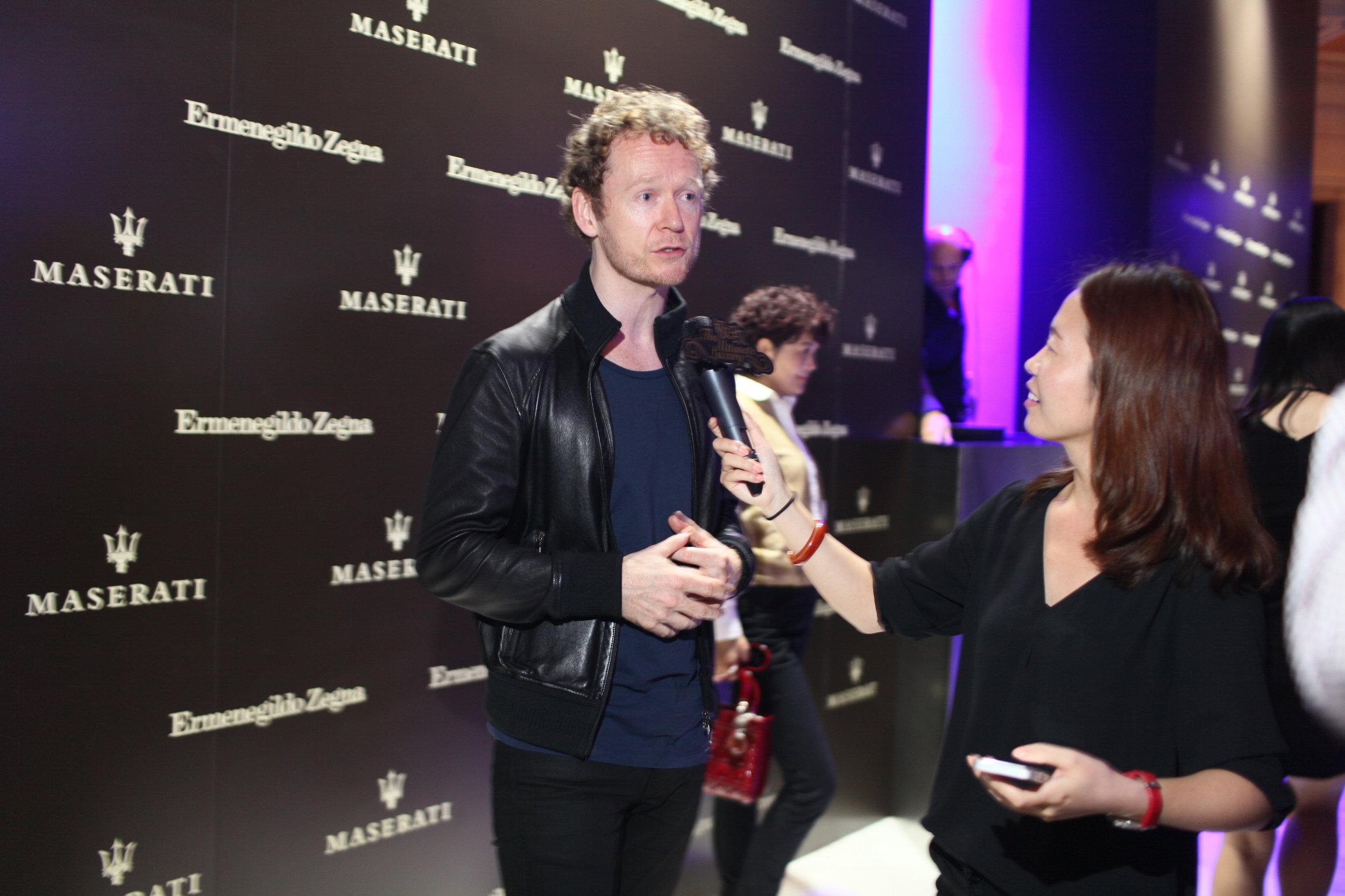 Johannes being interviewed by Ultimate Luxury.JPG