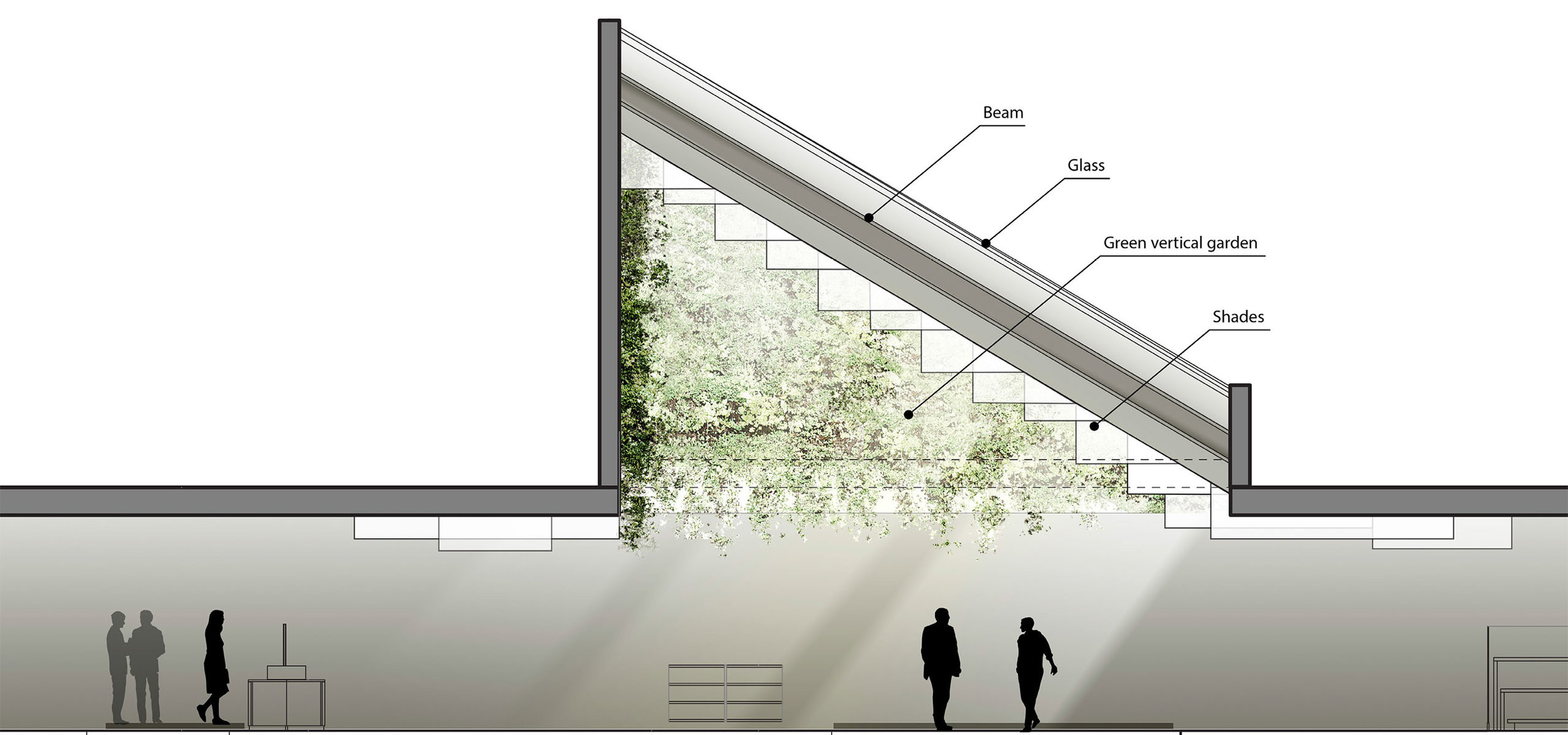 Photo of the gradual way light encompasses in the design concept of Johannes Torpe Studios for TAX FREE