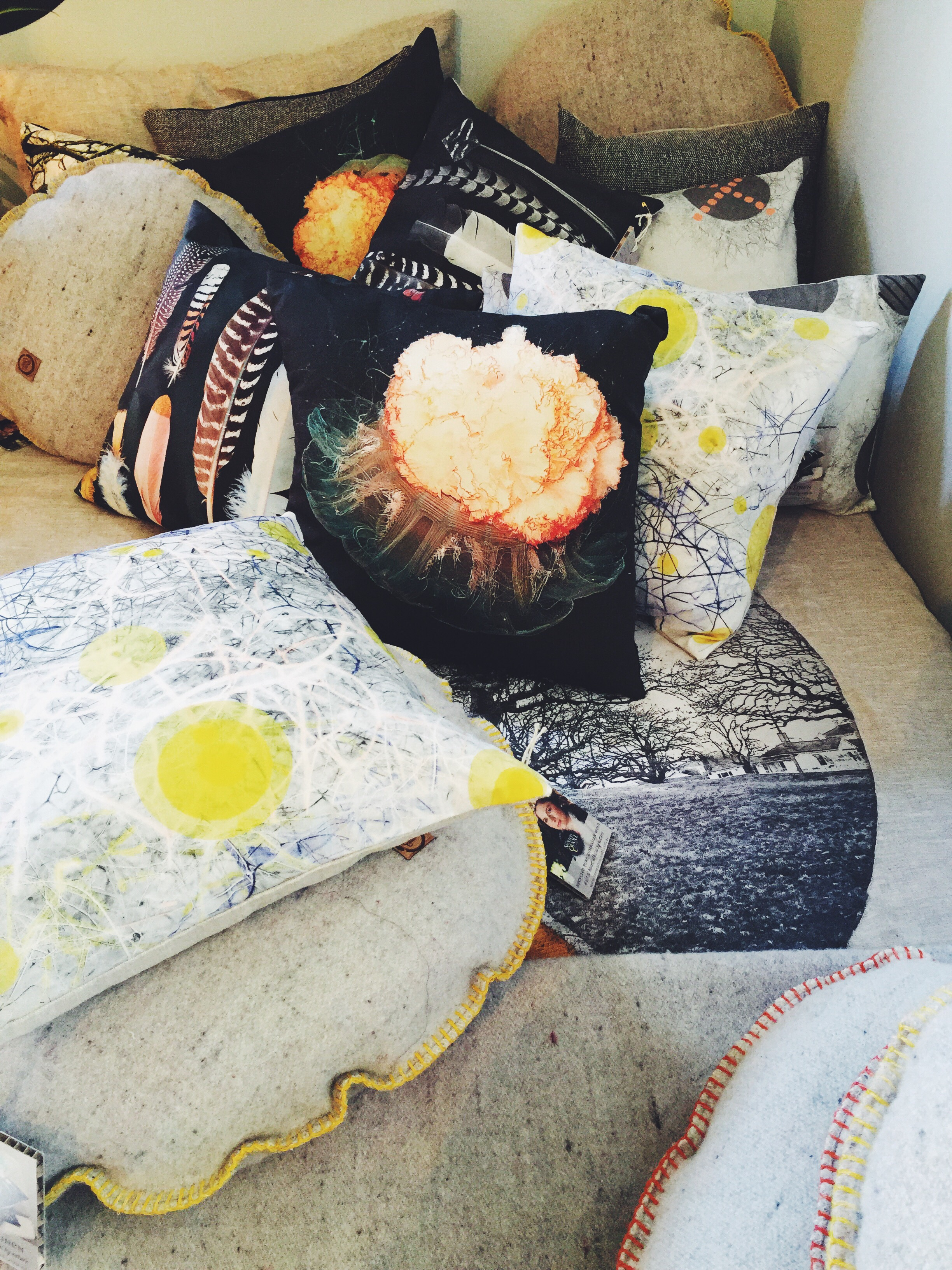 Amongst other gorgeous pillows and throws is the jellyfish design