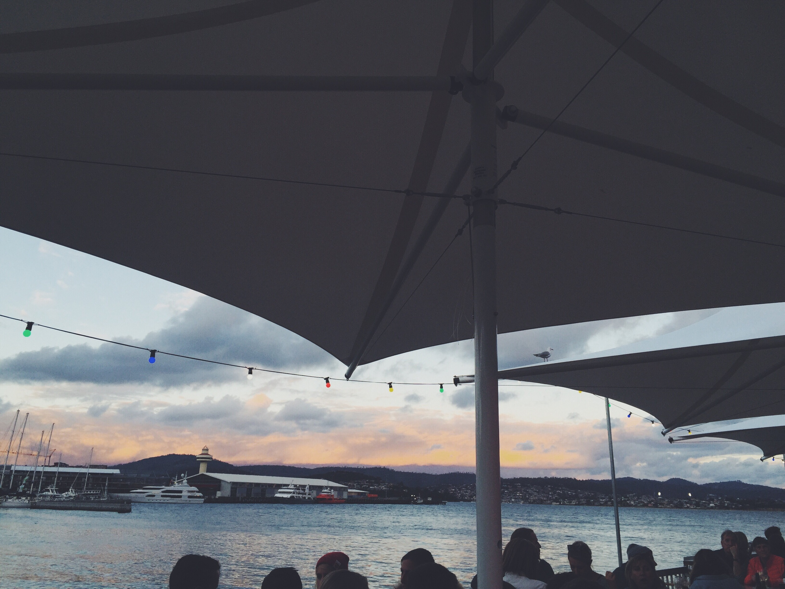 More from the outdoor seating area on the wharf