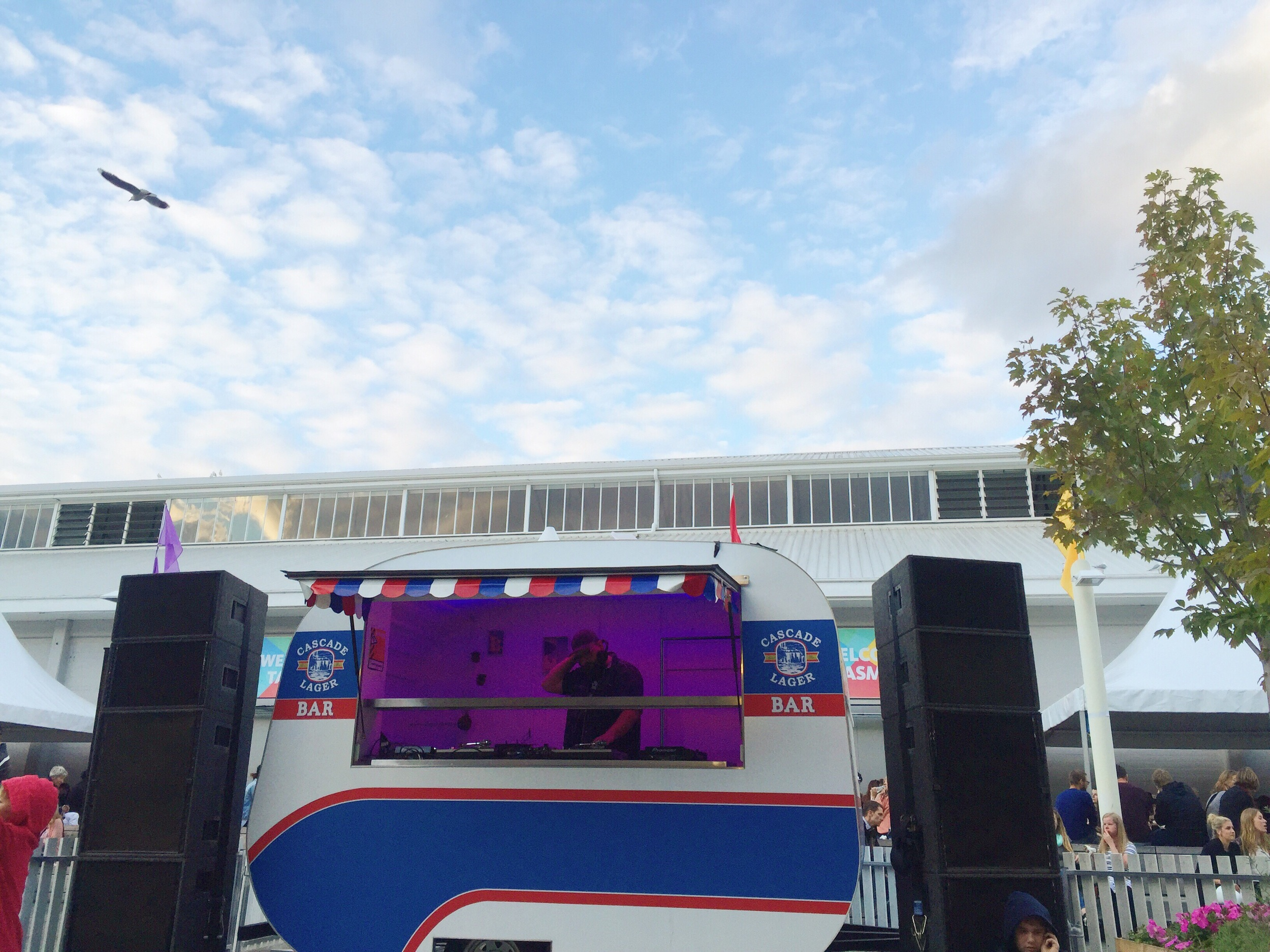 The cascade DJ van