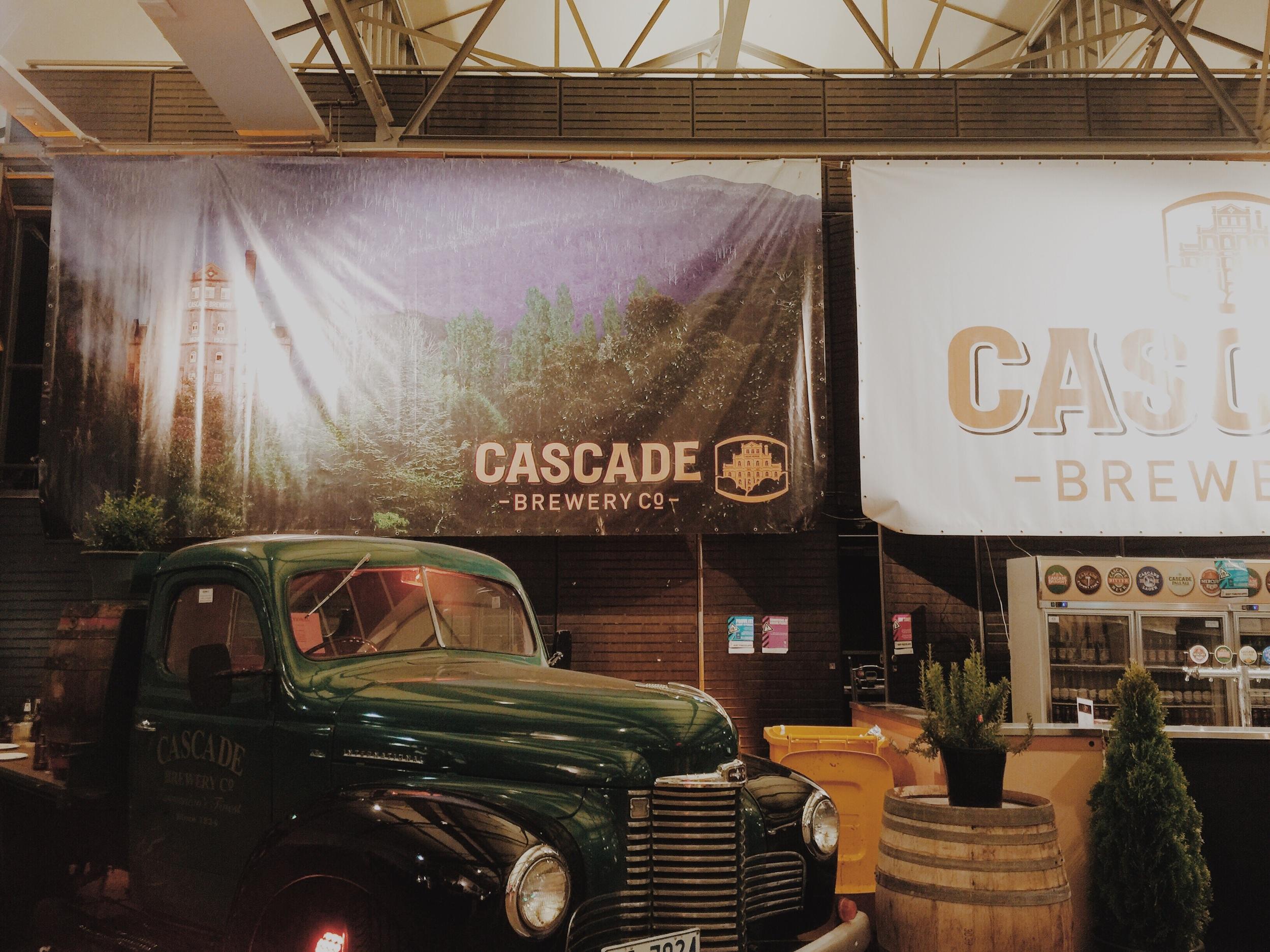 Hobart's Cascade Brewery stand