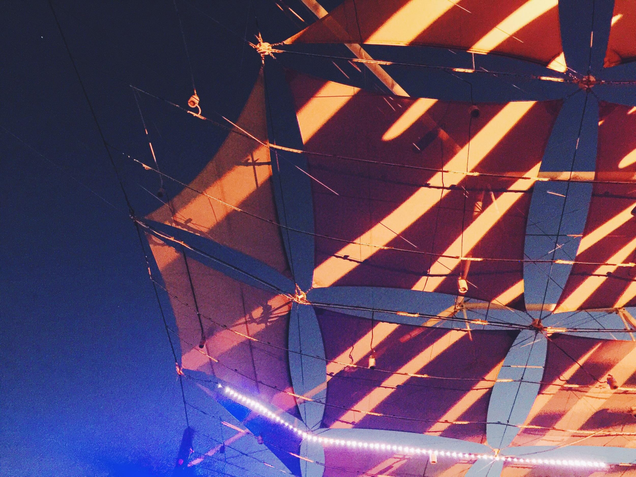 Looking up over the dancefloor