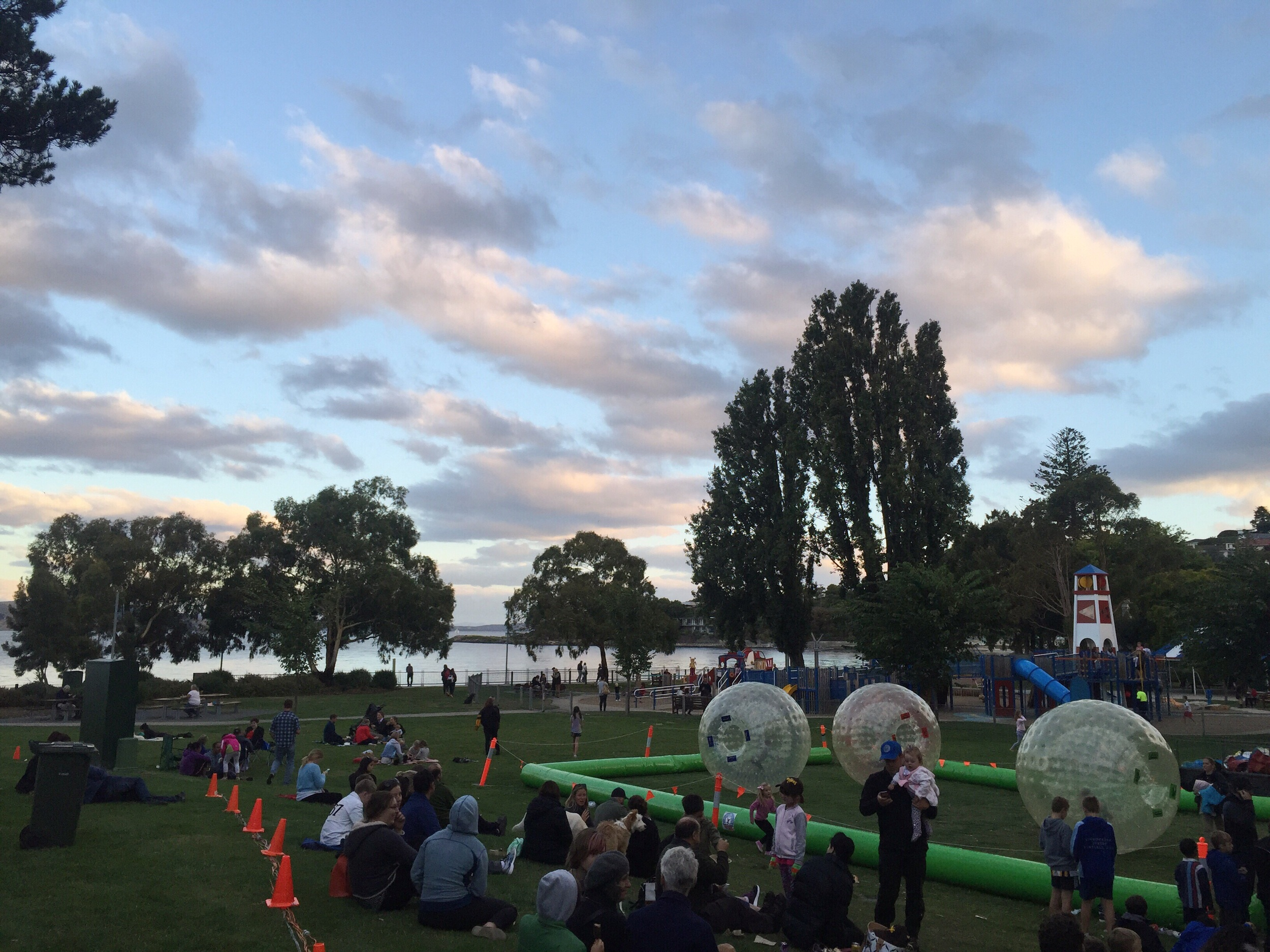 Tazorbs, playground, and picnic people