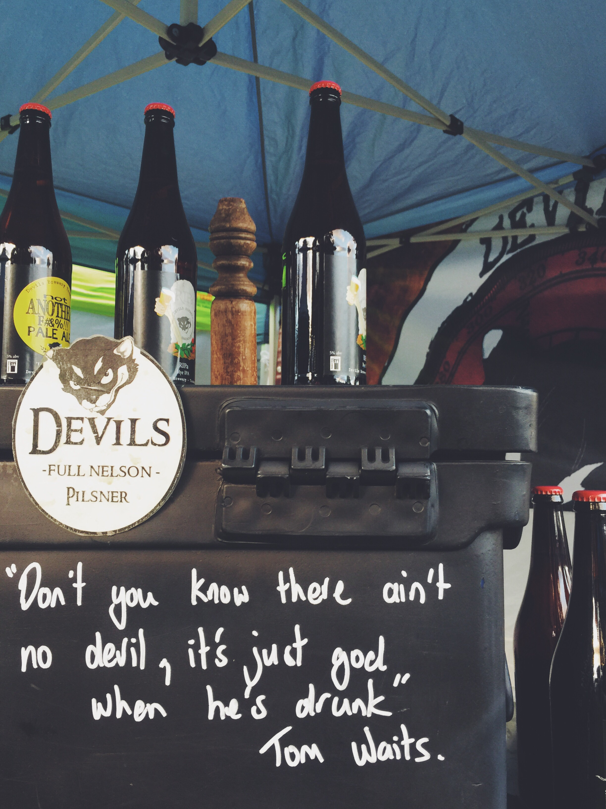 Just one of the many brews available at the market