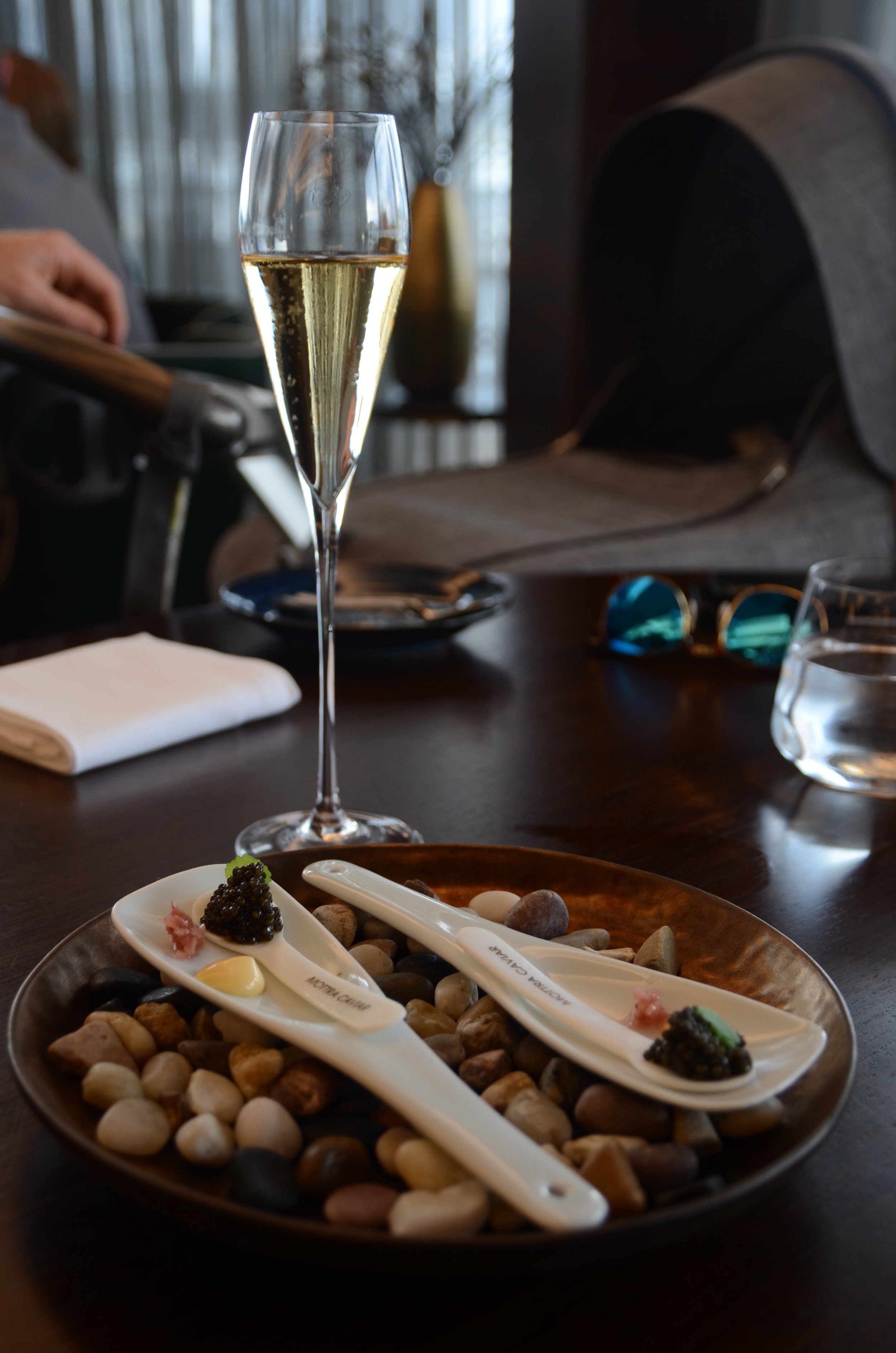 caviar and matching sparkling wine