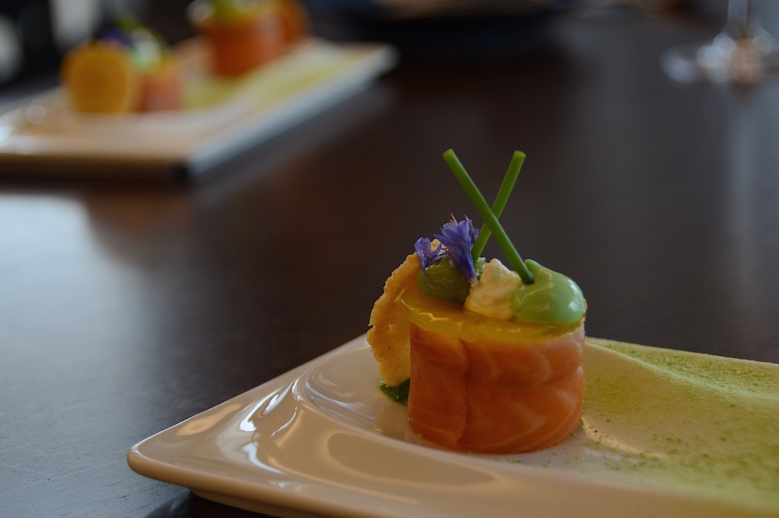 salmon dish close up