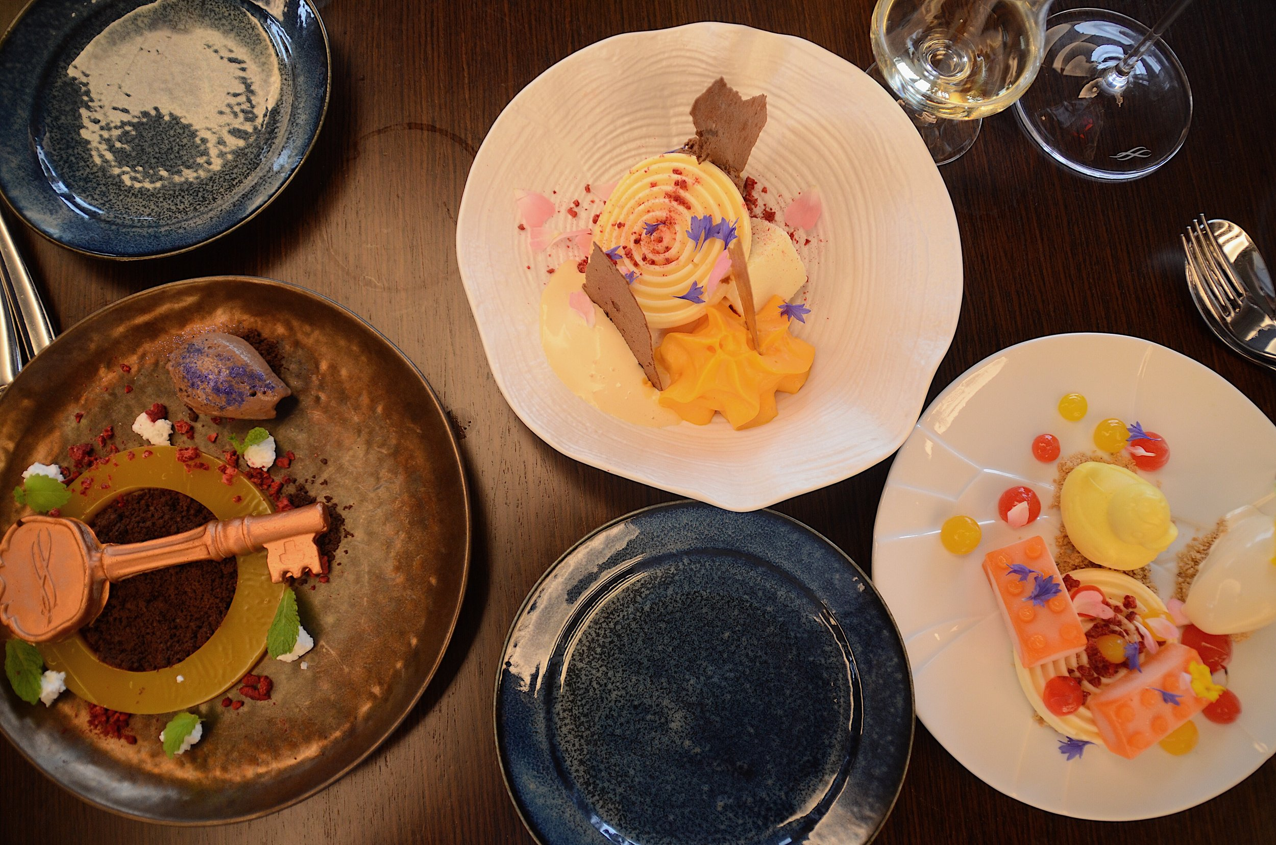 top down photo of our 3 desserts