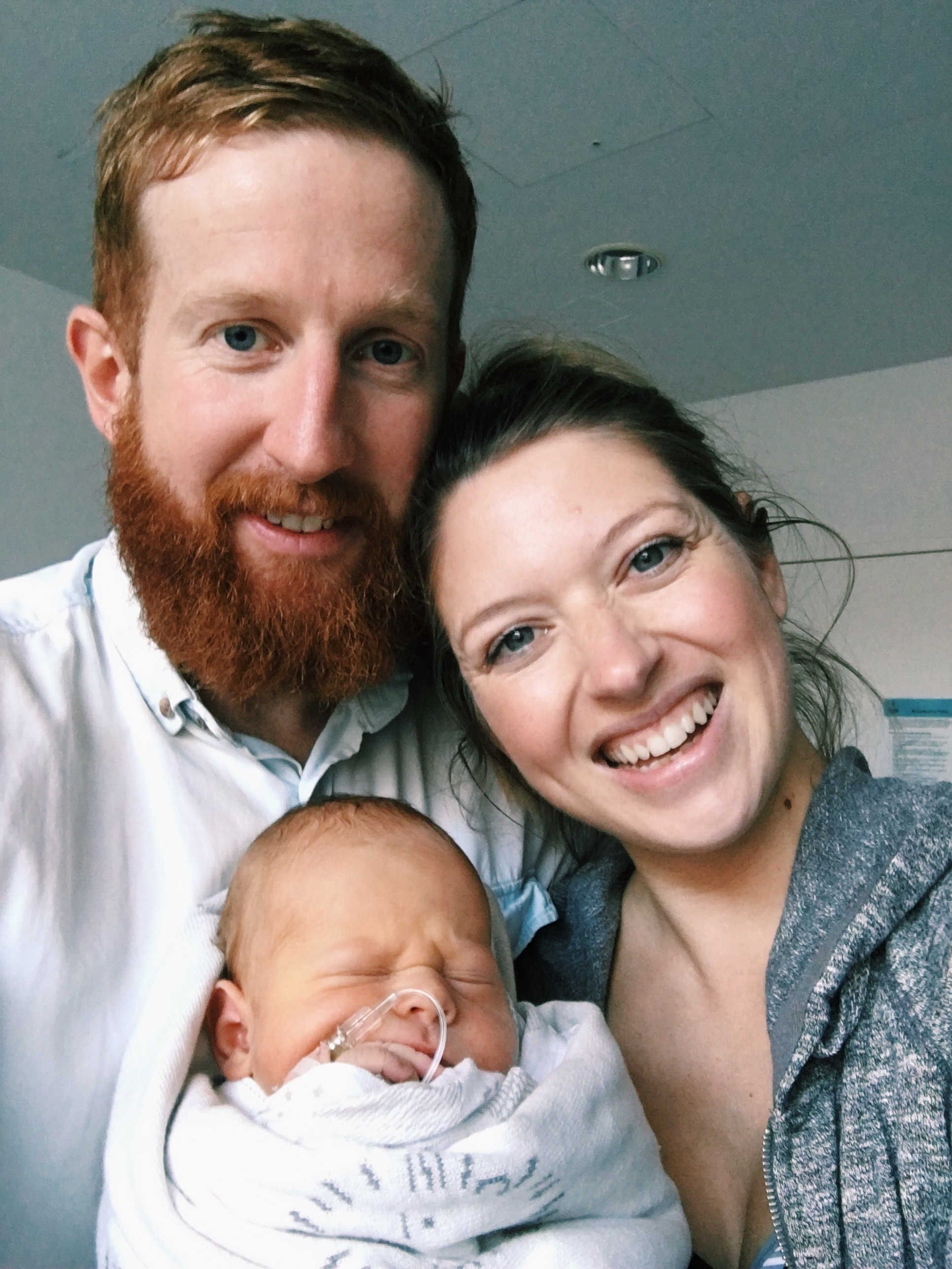 First family selfie in the hospital