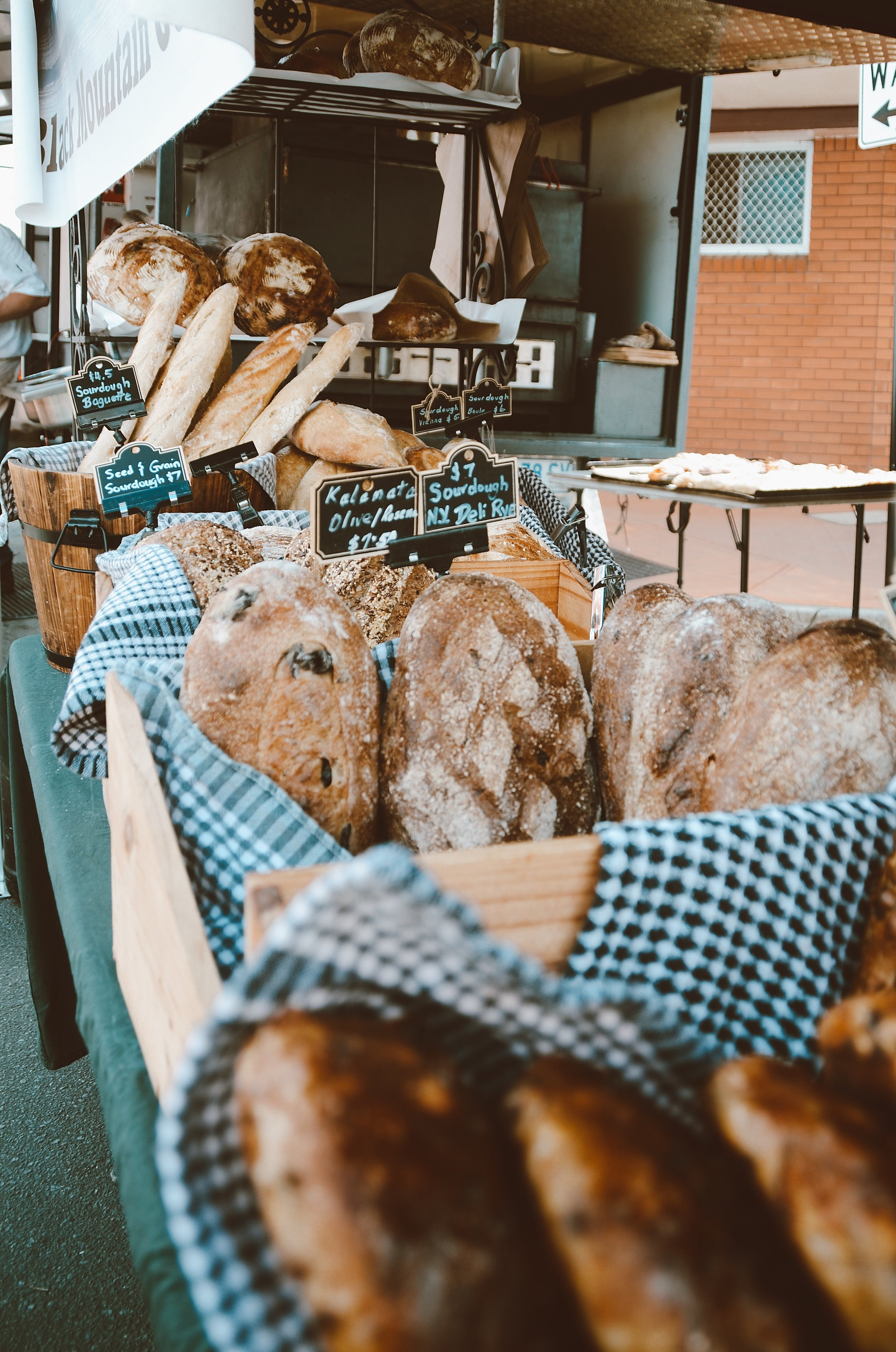 Breads at the Black Mountain Gourmet market stall