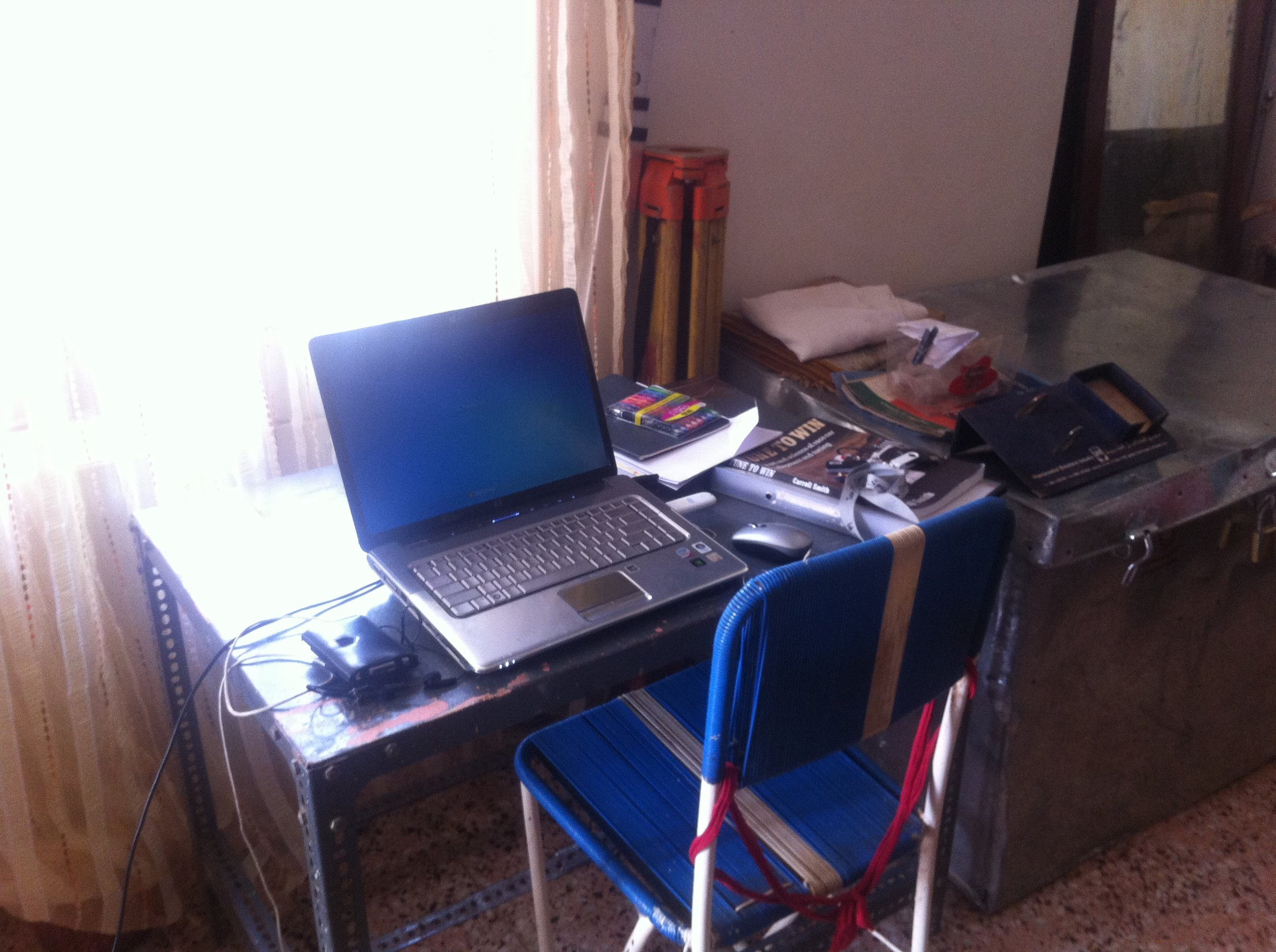 Where I did my blogging and studying while living in Sudan, circa 2012.