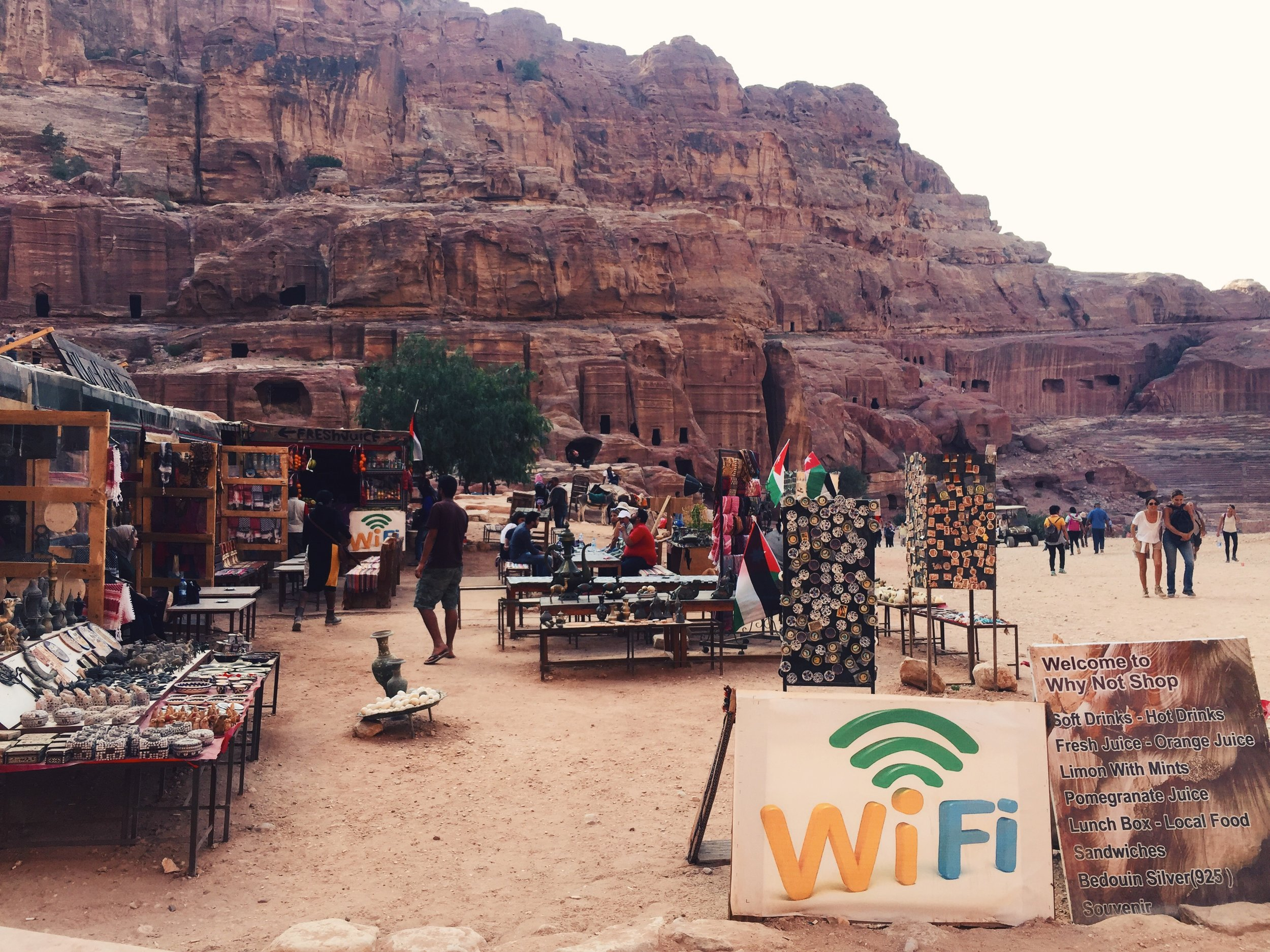 Even the ancient ruins of Petra in Jordan have wifi.