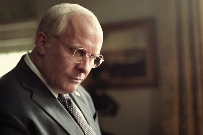 Christian Bale acting as Dick Cheney, in VICE.