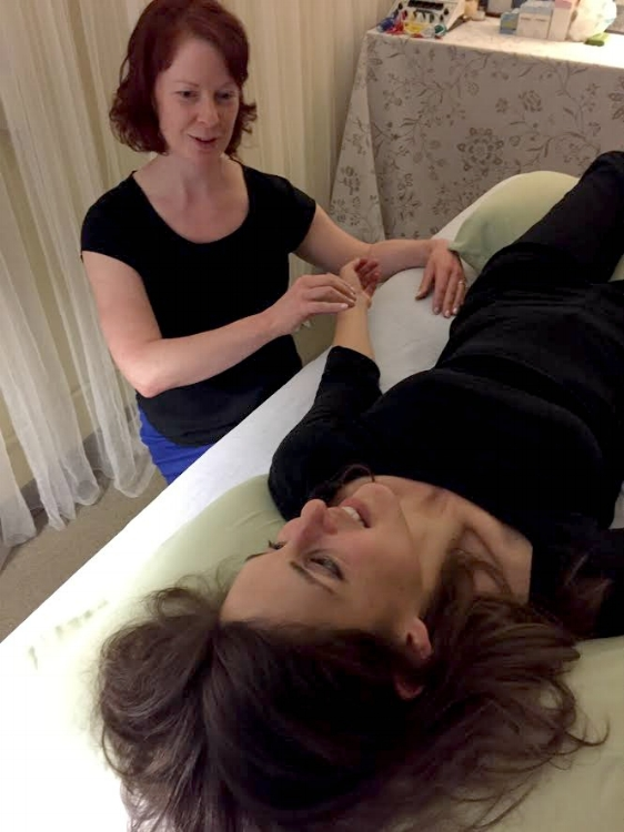 From running a 50K to running my mouth to my acupuncturist! Heather is checking my pulses before applying needles to chill me out and promote healing.