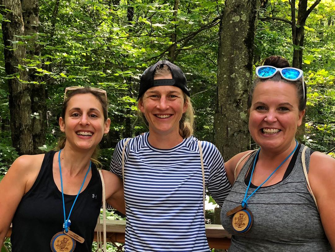 Lauren x 3! The one in the middle happens to be Lauren Fleshman--runner, writer + human extradinaire