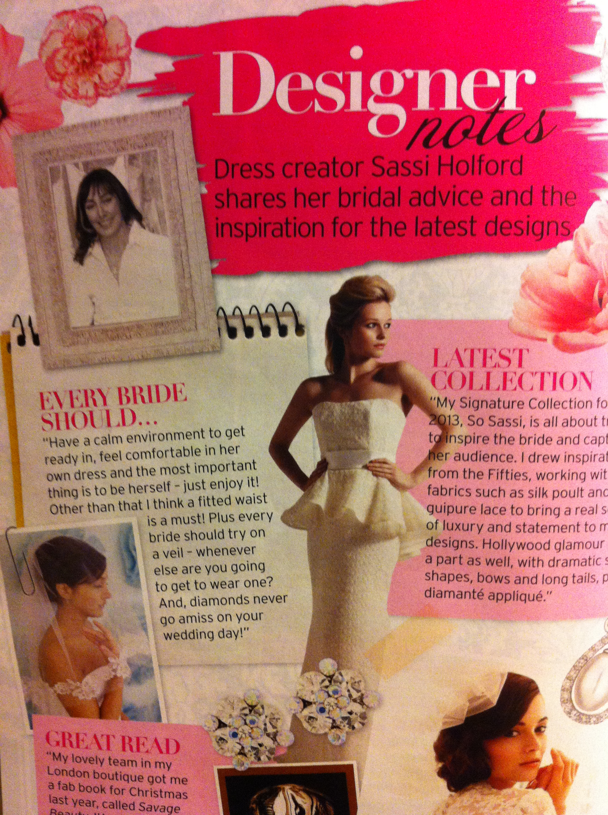 thairapy featured in Perfect Wedding 2012 for Sassi Holford