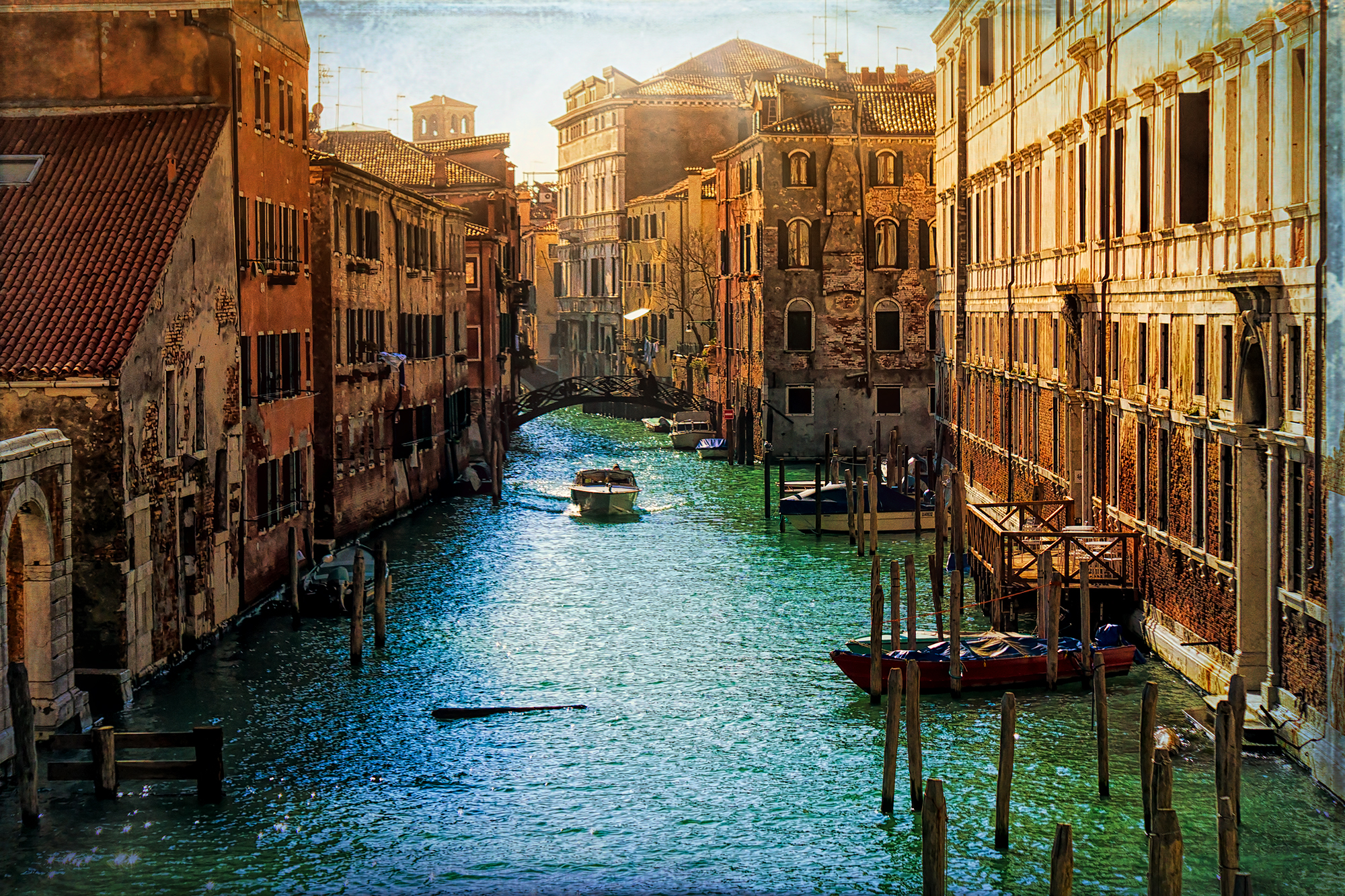 Textures of A Venetian Canal