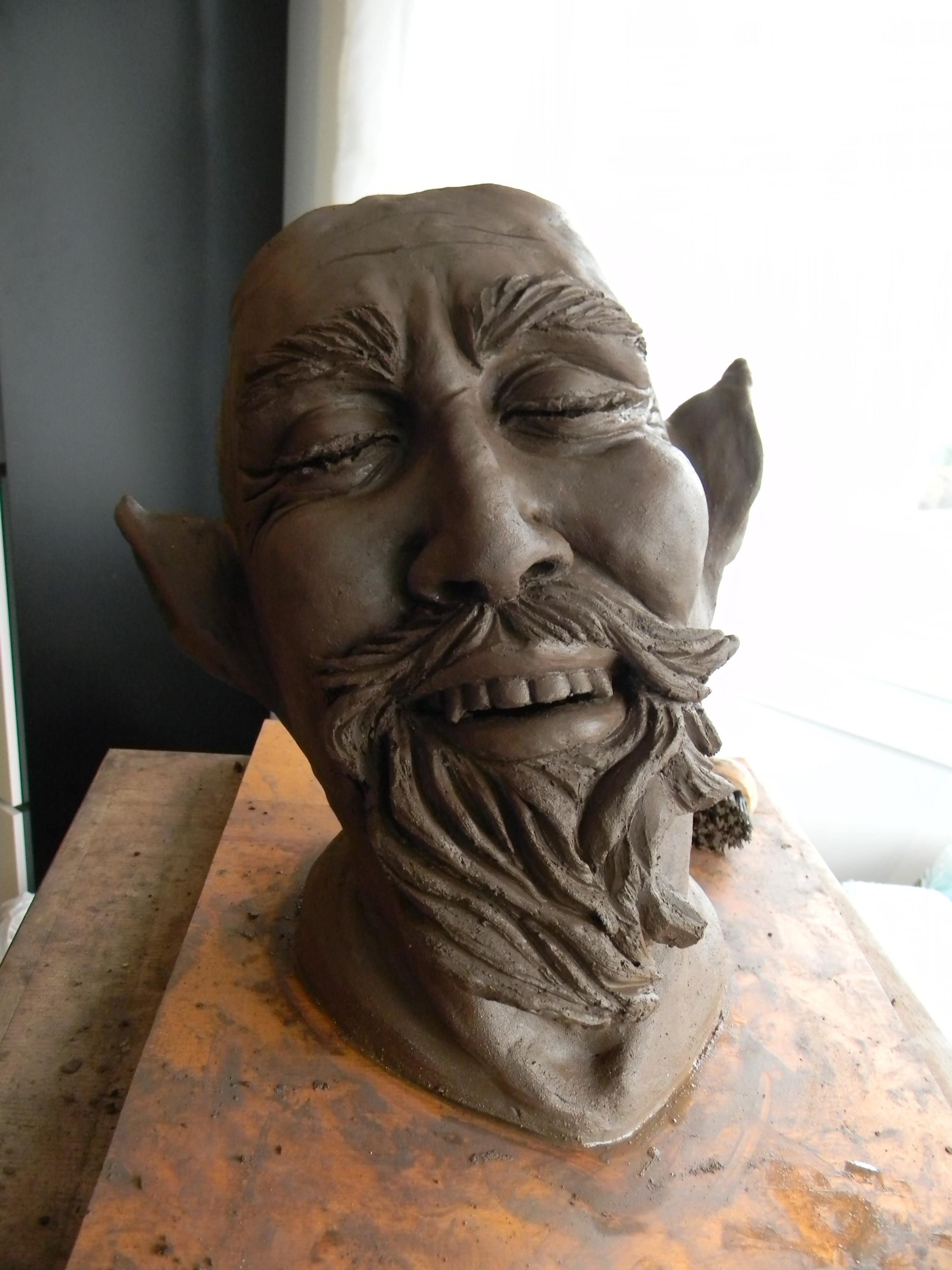 Gaetan...in clay, non-fired.