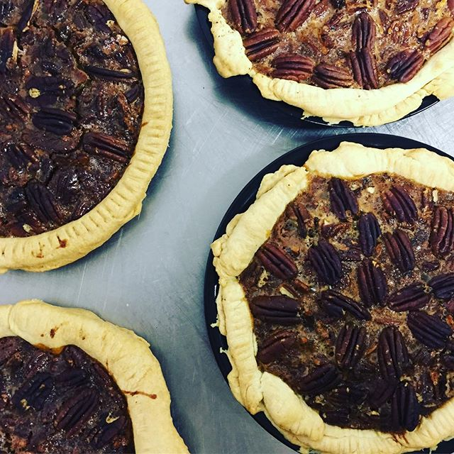 Pecan Pies on the menu today! 🥧