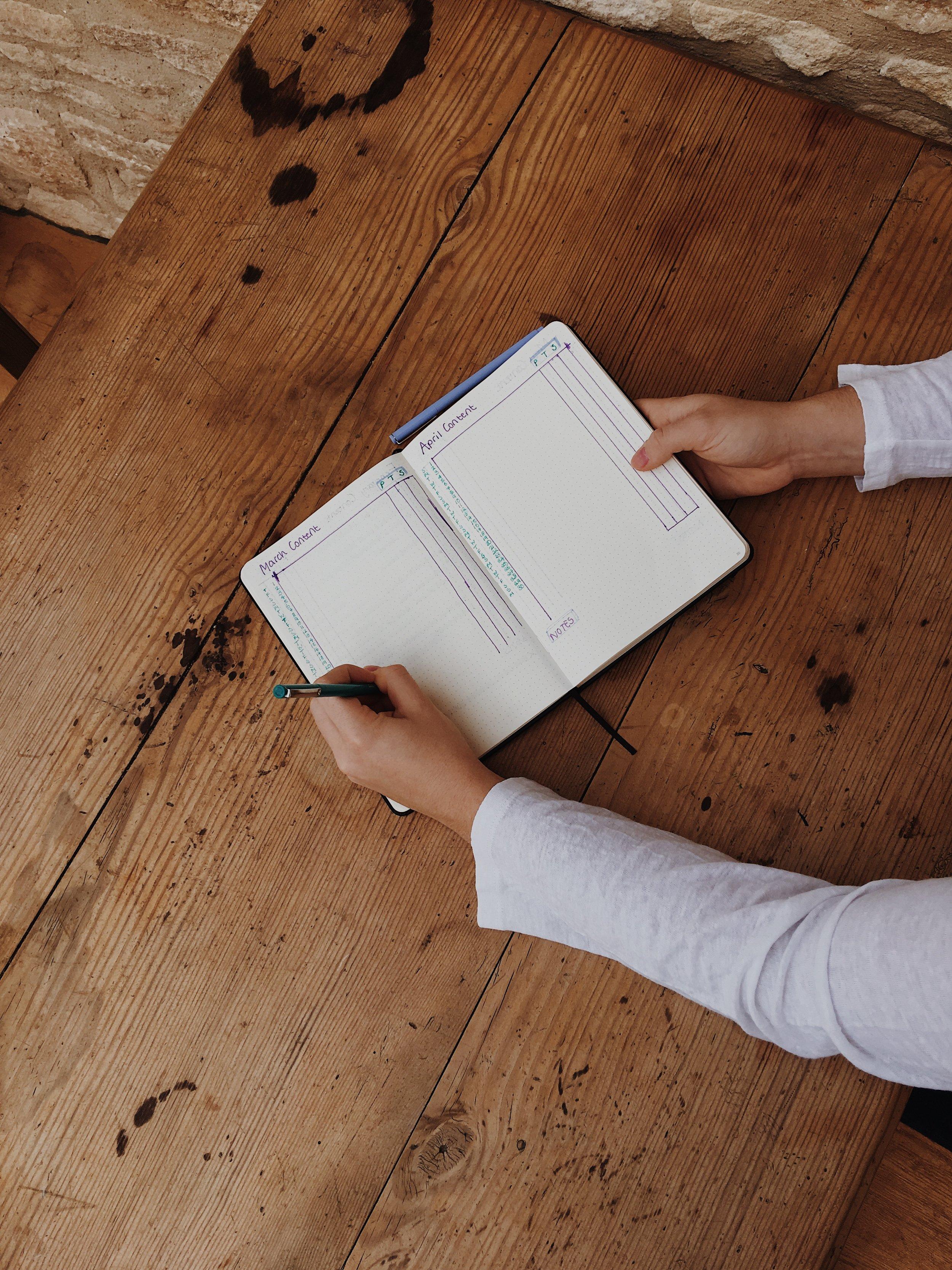 Bullet Journal planning