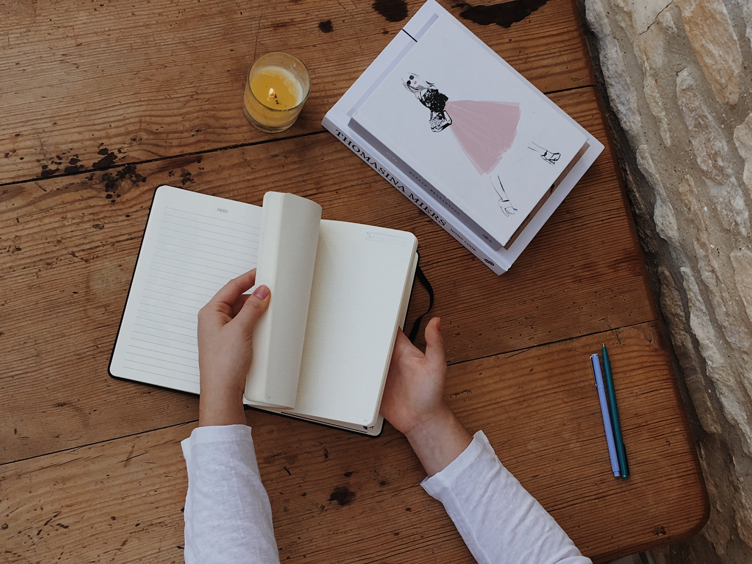 how to start a bullet journal blogging edition